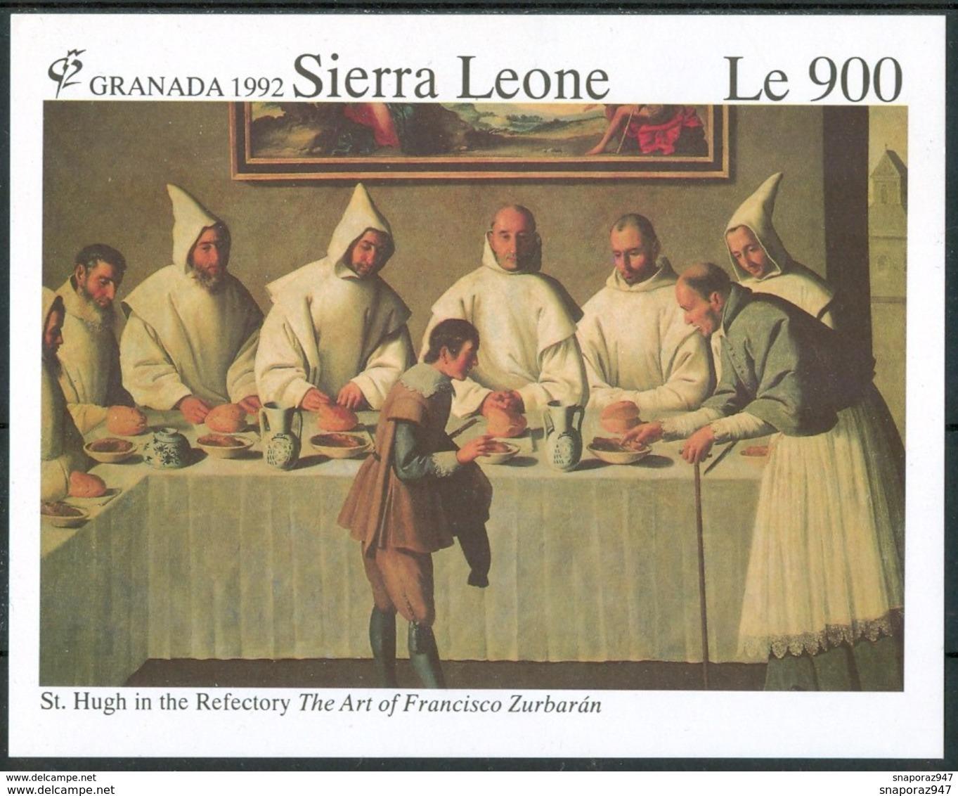 1992 Sierra Leone Francisco Zurbaran Quadri Paintings Peintures 3 Block MNH** RR49 - Sierra Leone (1961-...)
