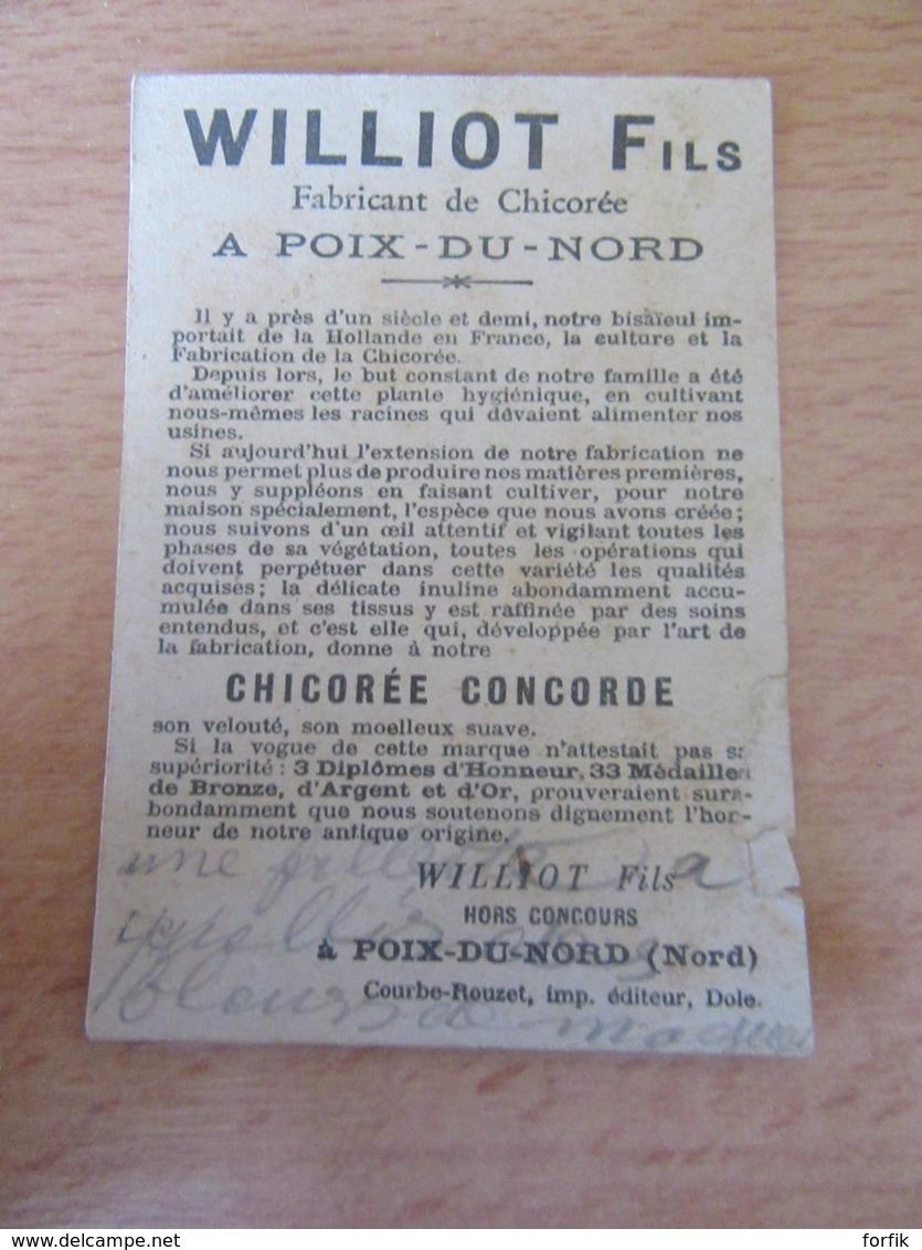 Chromo Publicitaire Williot Fils - Chicorée Concorde à Poix-Du-Nord - Tea & Coffee Manufacturers