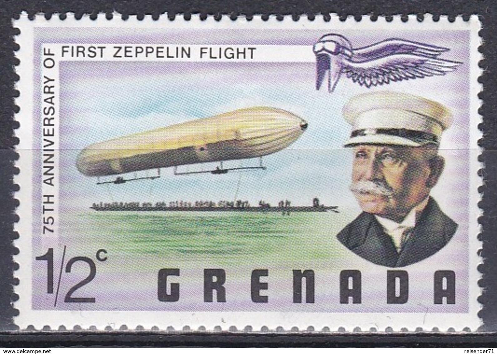 Grenada 1978 Transport Luftfahrt Aviation Luftschiff Zeppelin Airship Persönlichkeiten Ferdinand Zeppelin, Mi. 872 ** - Grenade (1974-...)
