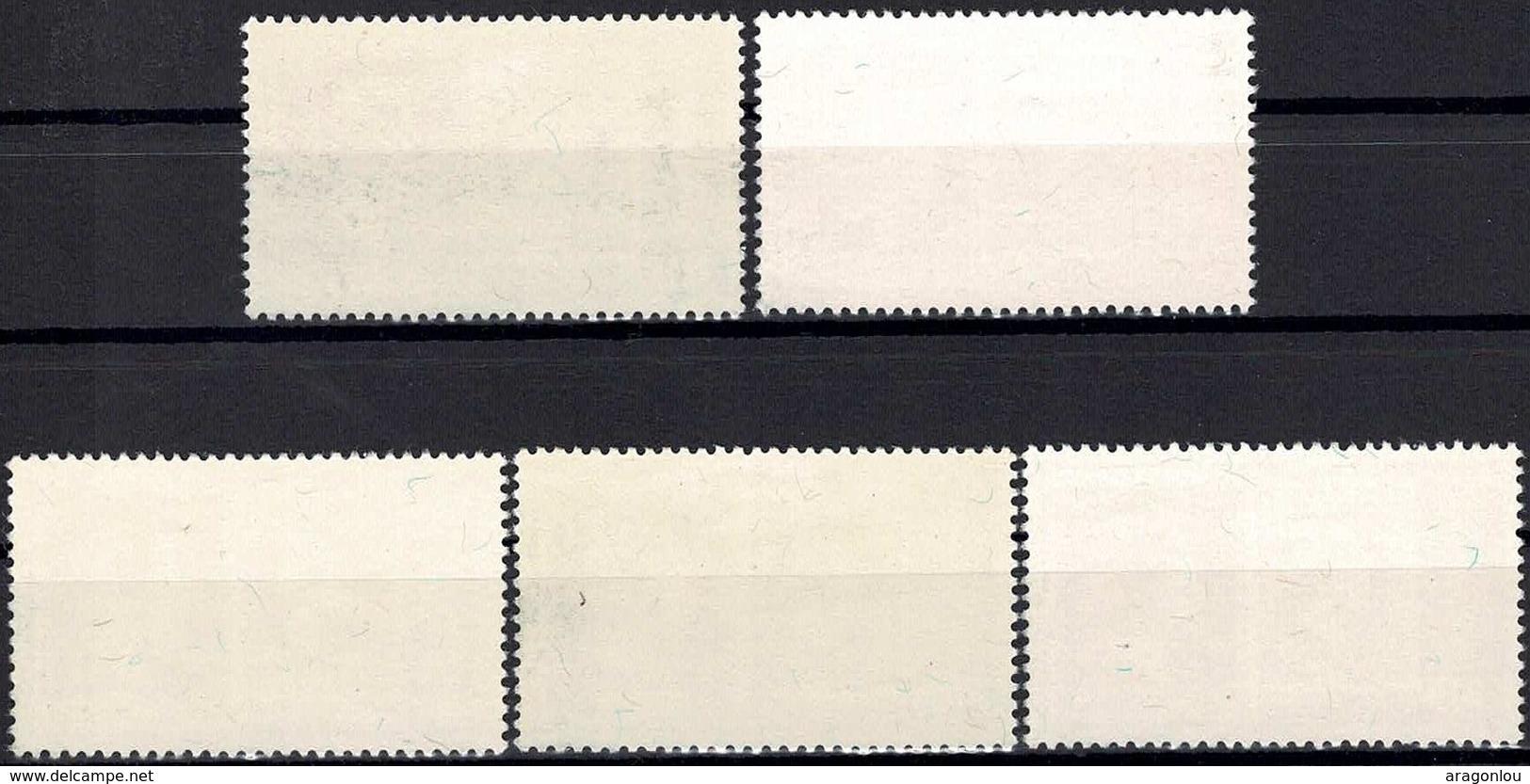 1952 Série Centenaire Des Timbres Poste, Neuf,  Michel 2019: 490-494, Valeur Catalogue: 100€  2Scans - Luxembourg