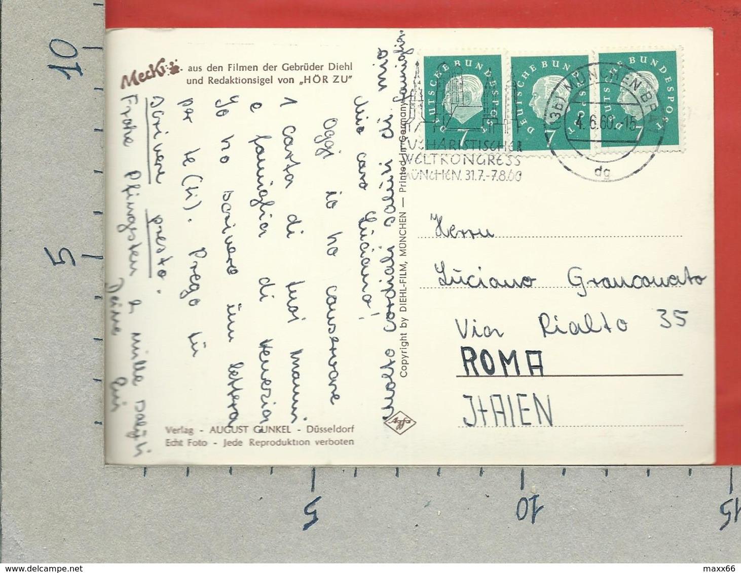 CARTOLINA VG GERMANIA - MECKI - Wann Schreibst Du Mir ? - 10 X 15 - ANN. 1960 - Mecki