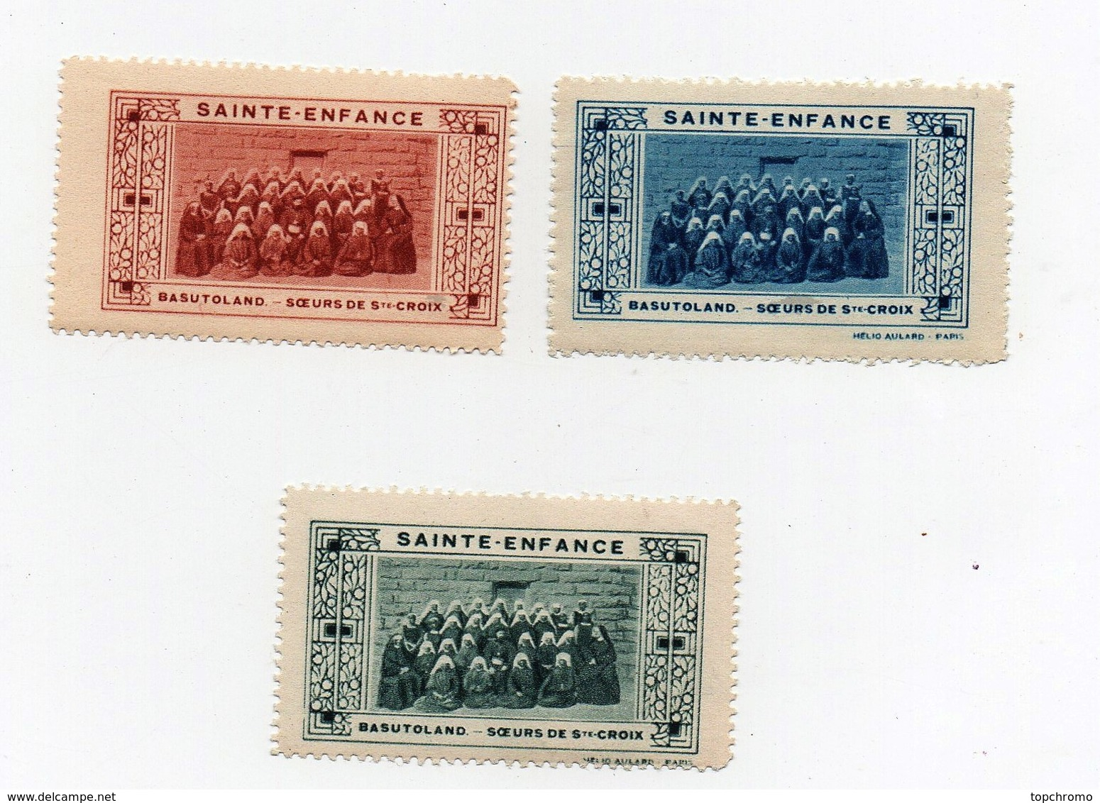 Erinnophilie Vignette Sainte-Enfance Batusoland Soeurs De Sainte Ste Croix - Stamps