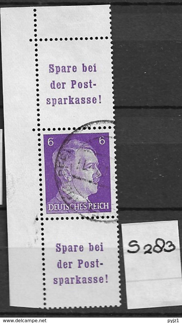 1940 USED Germany, Adolf H. S283 - Zusammendrucke