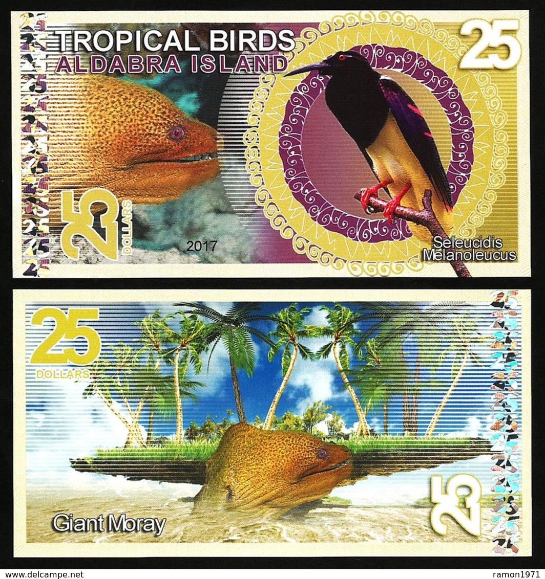 Aldabra Island (Seychelles) - 25 Dollars 2017 UNC - Seychellen