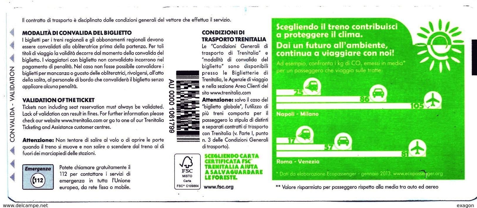 Biglietto  Treno  UTILIZZATO   -   Novara / Milano   -   Del  5  Dicembre  2018. - Europa