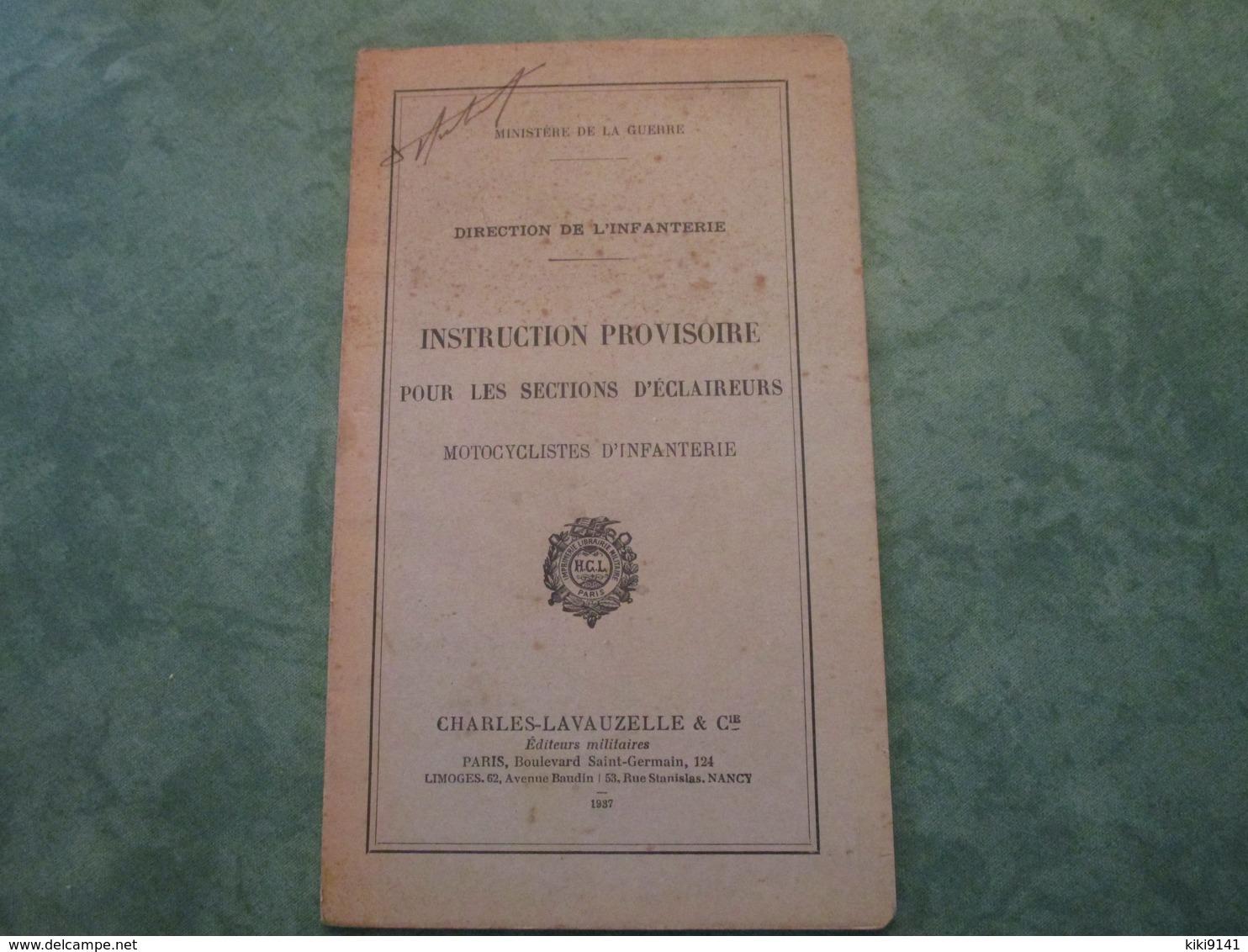 Instruction Provisoire Pour Les Sections D'Eclaireurs Motocyclistes D'Infanterie (34 Pages) - Livres