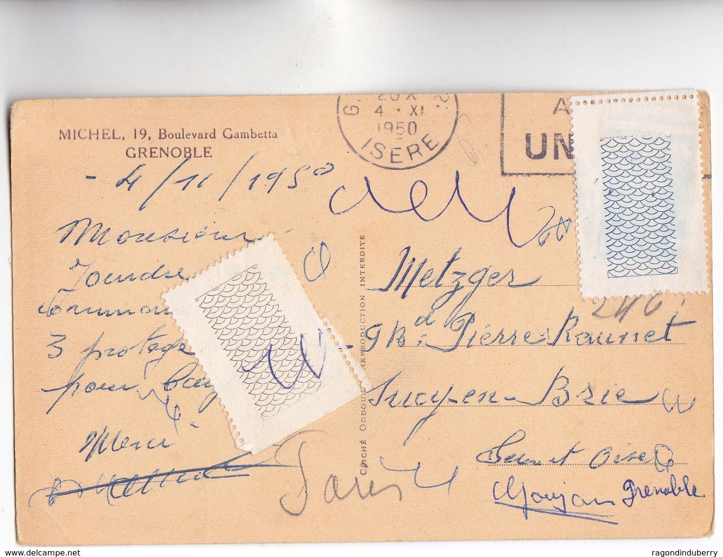 CPA - 38 - GRENOBLE - MICHEL TOUT POUR LA MUSIQUE - PIANOS, PHONOS 19, Boulevard Gambetta - CARTE RARE - 1950 - Grenoble