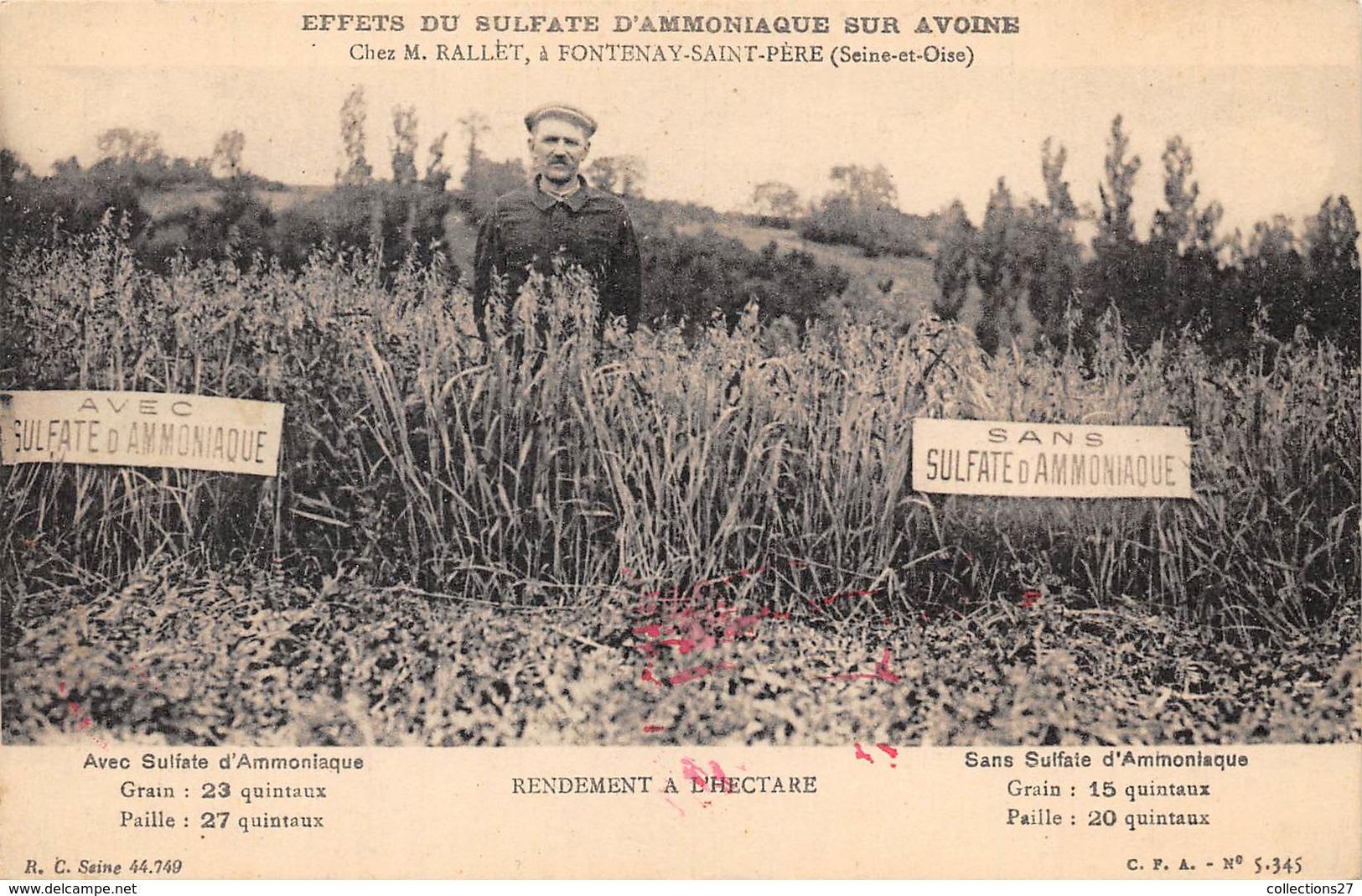 78-FONTAINE-SAINT-PERE- EFFETS DU SULFATE D'AMMONIAQUE SUR AVOINE - CHEZ M. RALLET - Autres Communes