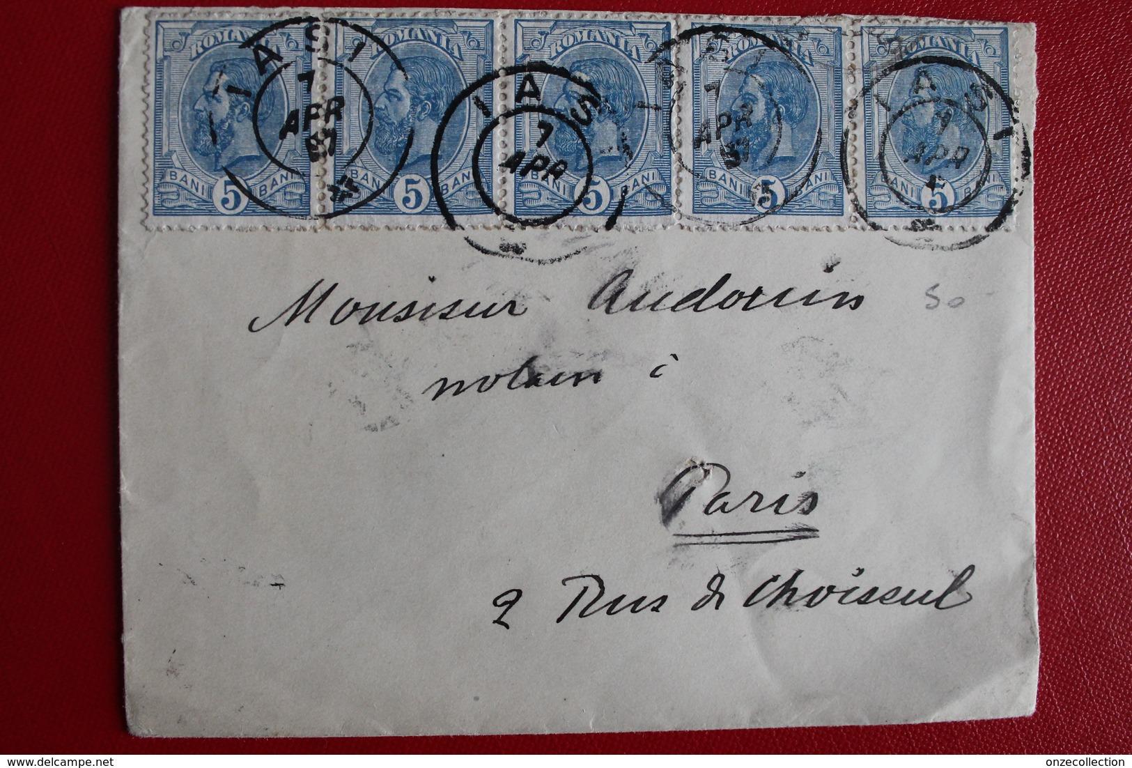 1897      ENVELOPPE    COMPLETE  DE  BUCAREST  POUR  LA  FRANCE - 1881-1918: Charles I