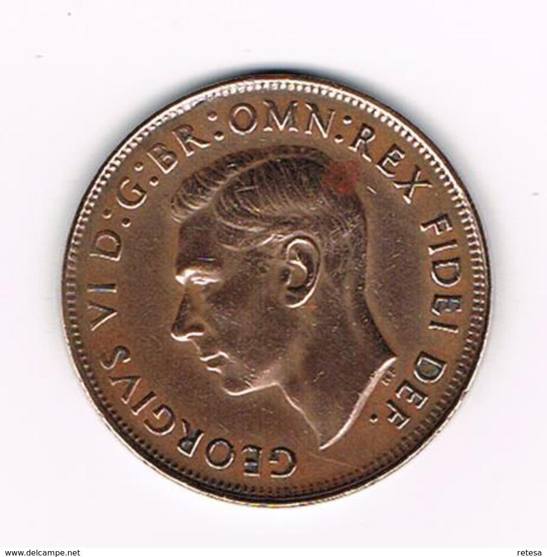 -&  AUSTRALIE  1 PENNY   KANGOEROE 1949  GEORGIUS VI - Penny