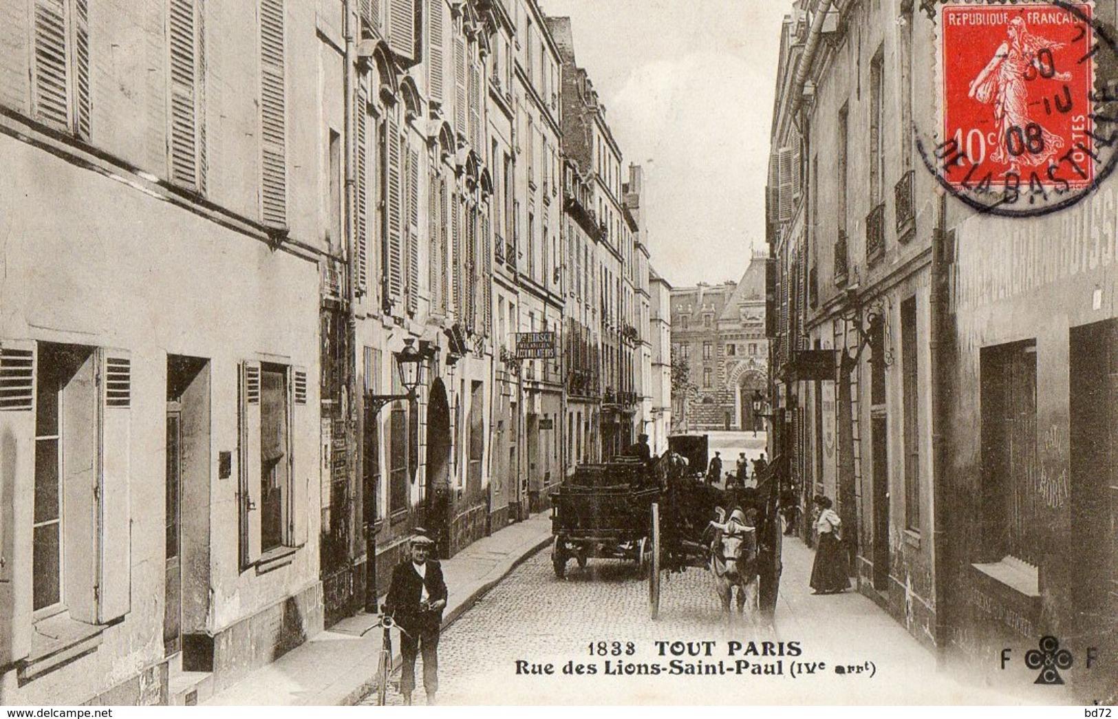 TOUT PARIS, Rue Des Lions-saint-paul - Arrondissement: 04