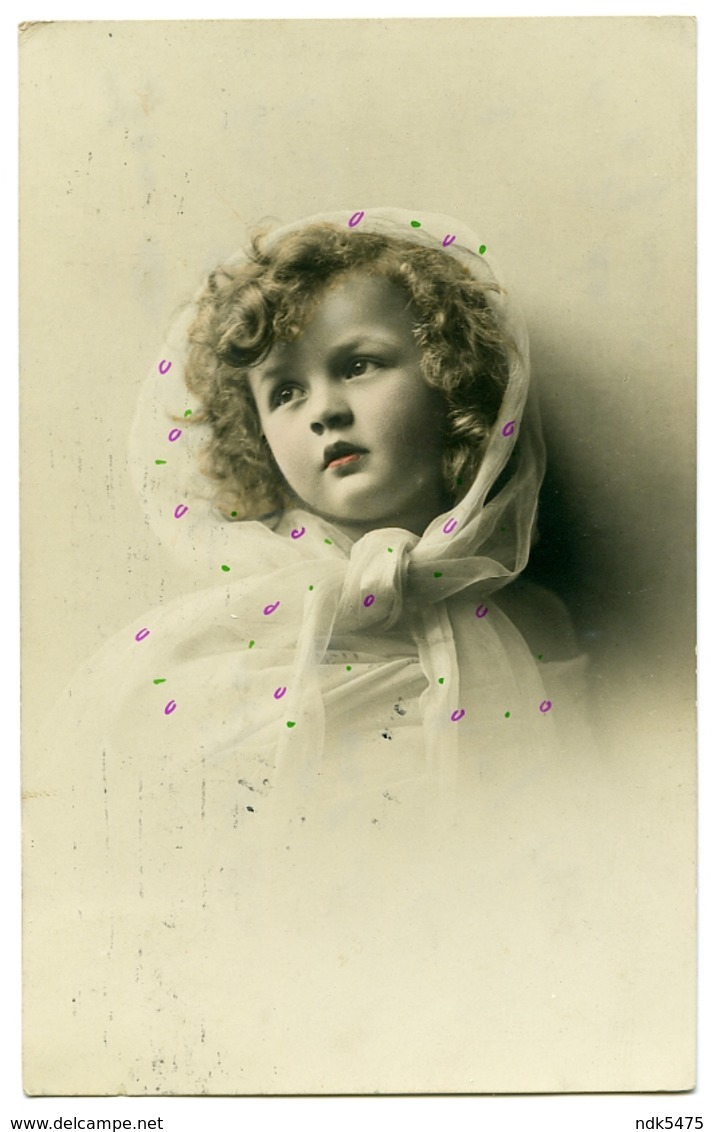 PRETTY GIRL WITH HEADSCARF (HAND COLOURED) - Portraits