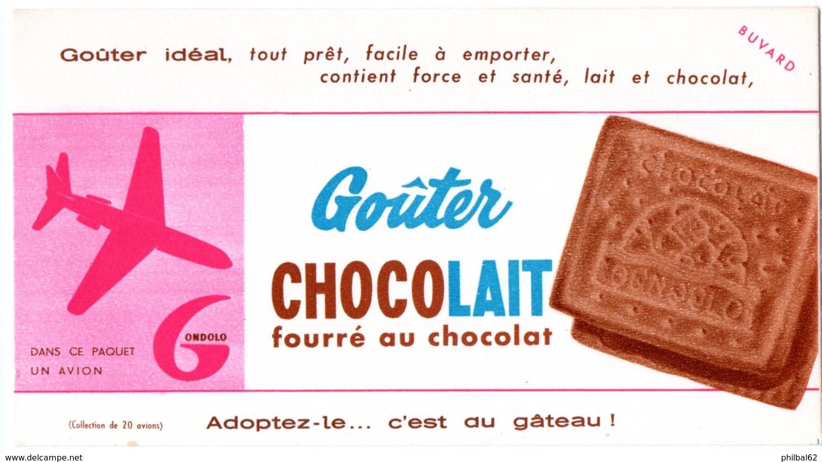 Buvard Gondolo, Goûter Chocolait, Fourré Au Chocolat. - Cake & Candy