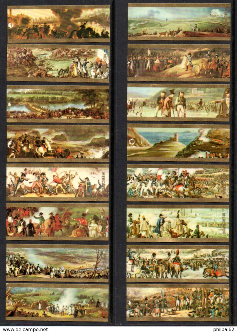 Vitolphilie. Lot De 16 Bagues De Cigares Mercator. Les Batailles De Napoléon. Série Incomplète. - Cigar Bands