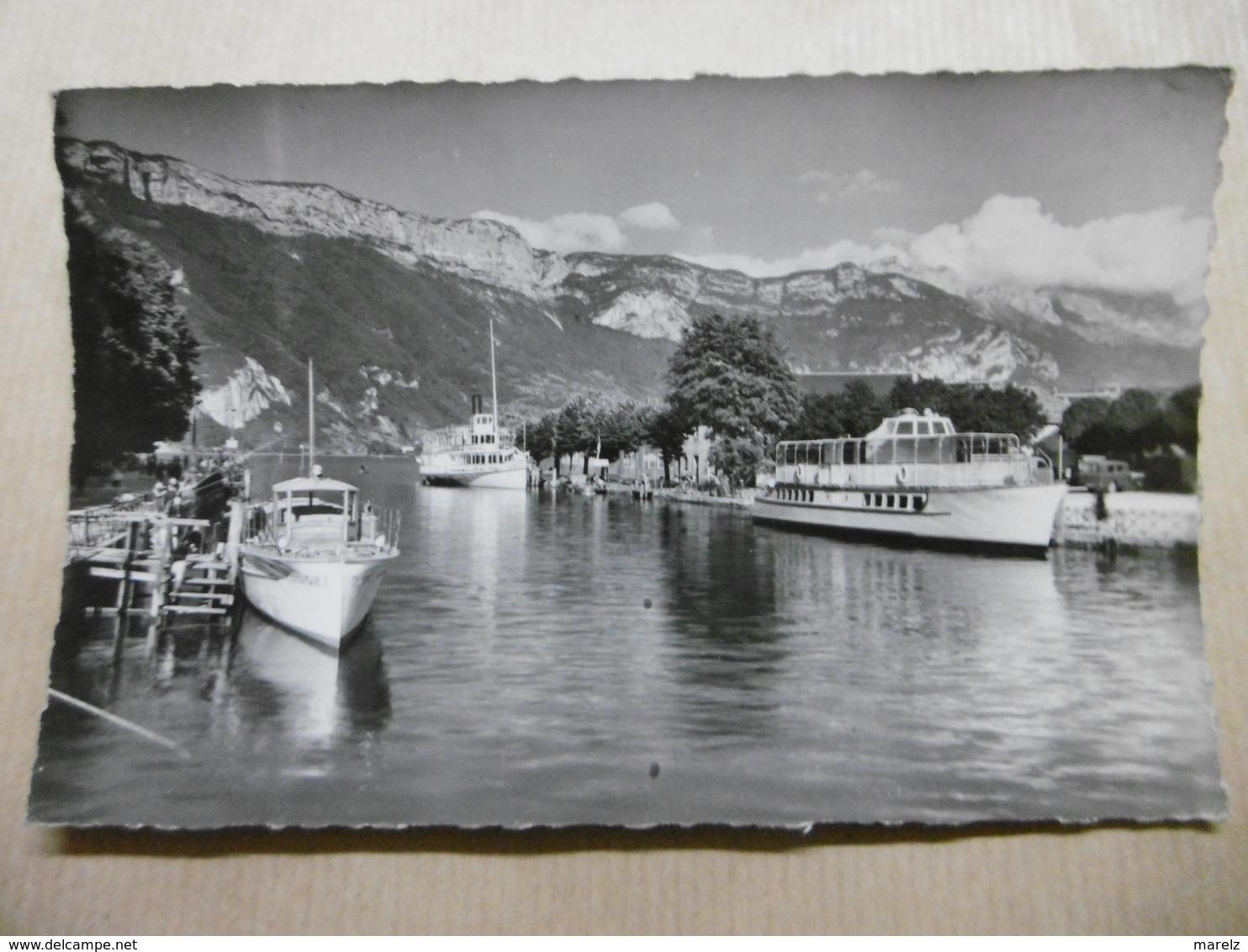 ANNECY Le Port Et Bateaux 74 HAUTE-SAVOIE - Annecy
