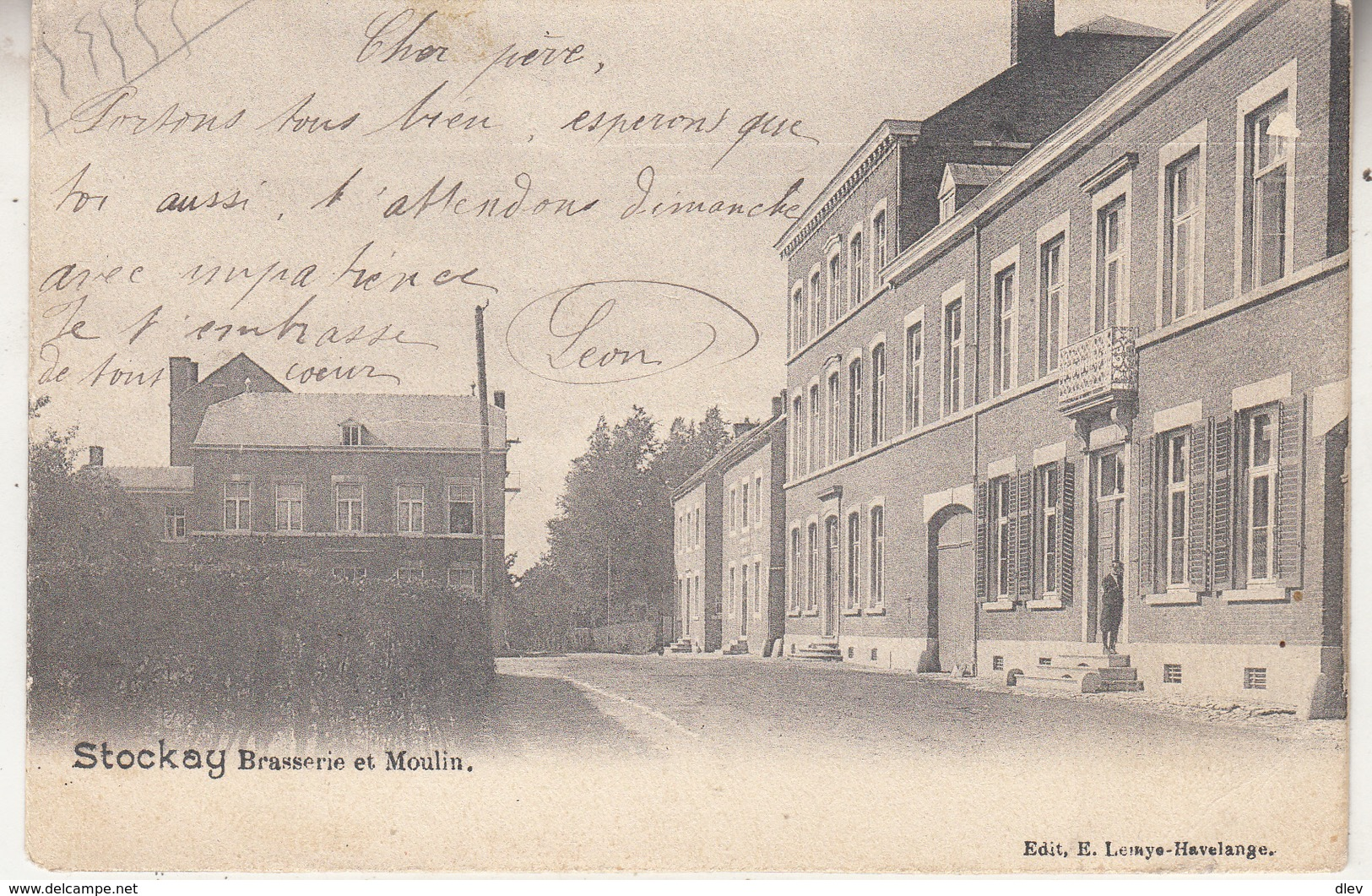 Stockay - Brasserie Et Moulin - 1903 - Edit. E. Lemye, Havelange - Saint-Georges-sur-Meuse