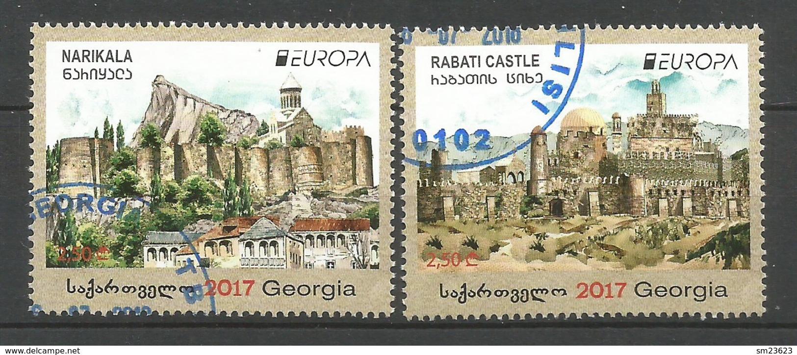 Georgia  2017 ,  EUROPA  CEPT  Schlösser Und Burgen - Gestempelt / Used / (o) - 2017
