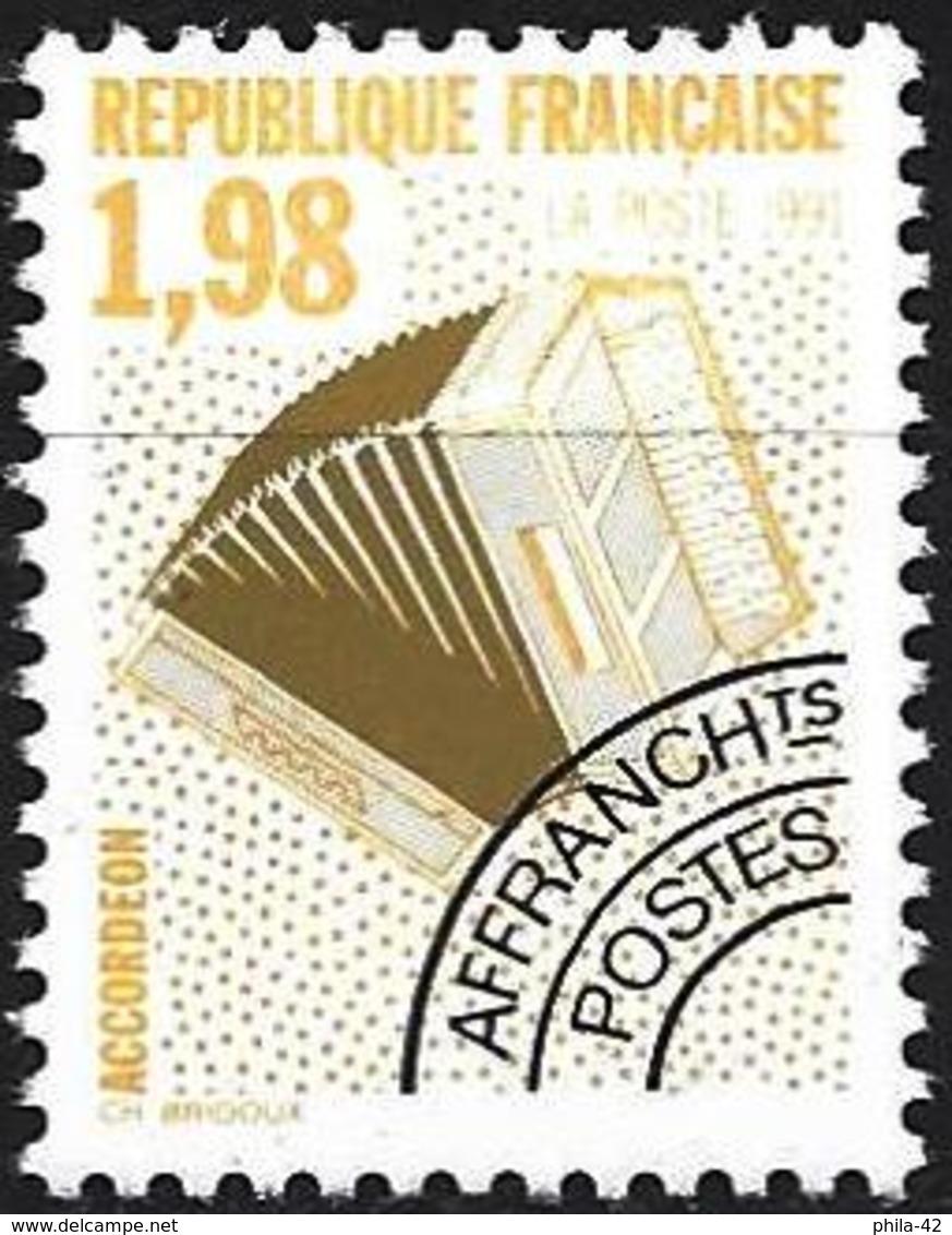 France 1992 - Mi 2872 A - YT Po 214 ( Musical Instruments : Accordion ) MNH** - Préoblitérés