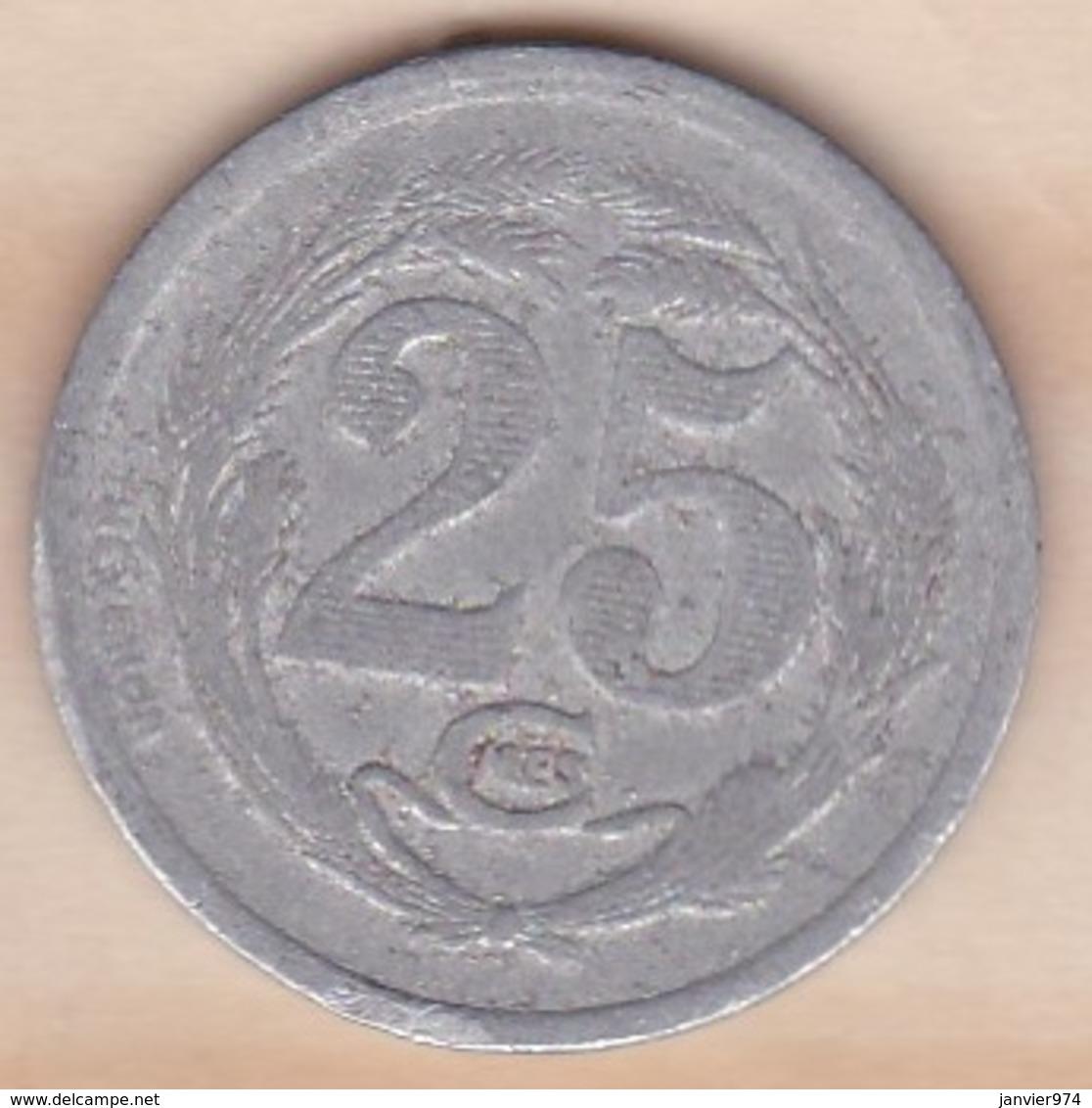 Algérie , Chambre De Commerce D'Oran , 25 Centimes 1922 , Aluminium - Algérie