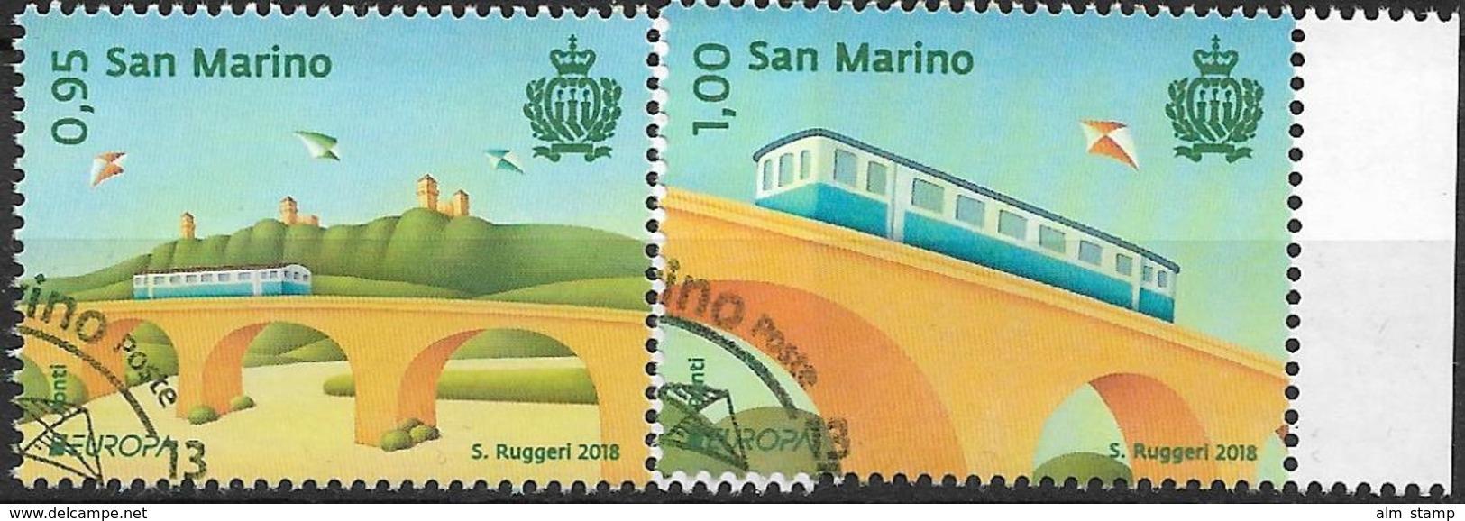 2018 San Marino/Saint-Marin Set Used  EUROPA  Ponte, Bridge, Pont, - 2018