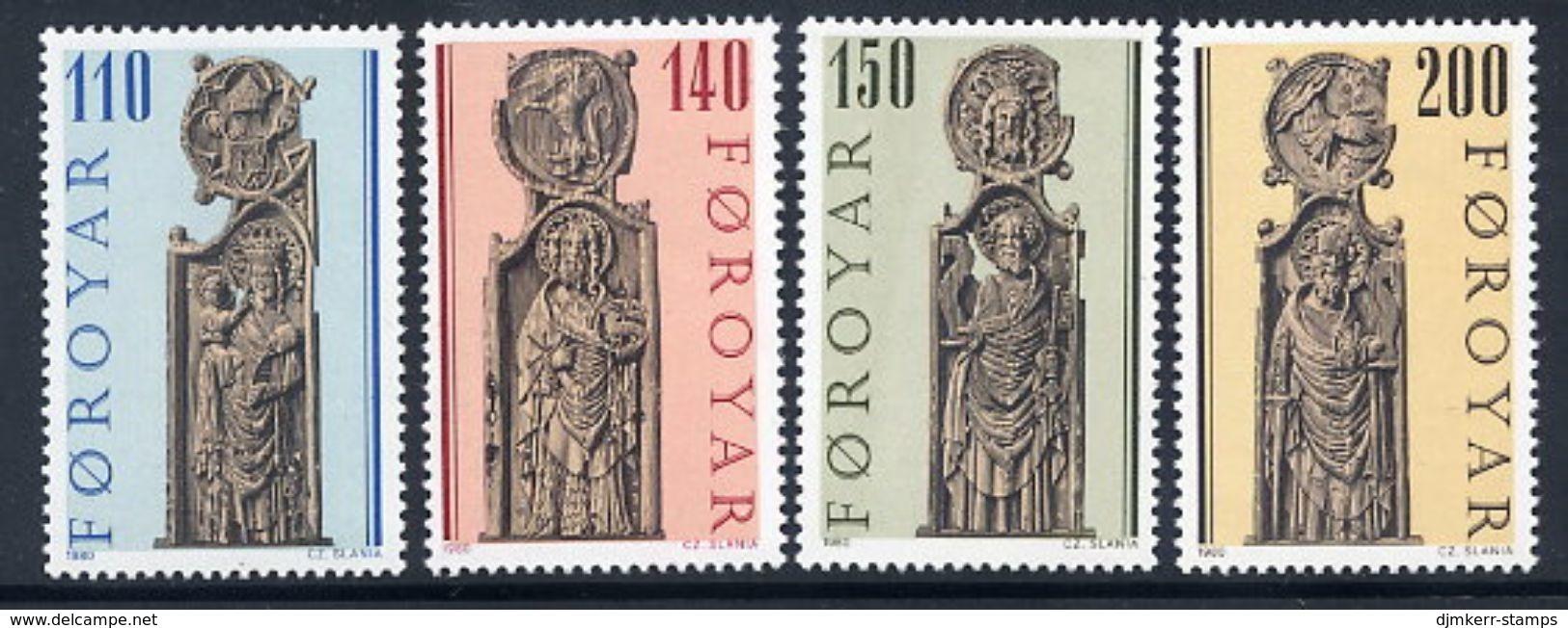 FAROE IS. 1980 Church Pew-ends MNH / **.  Michel 55-58 - Féroé (Iles)