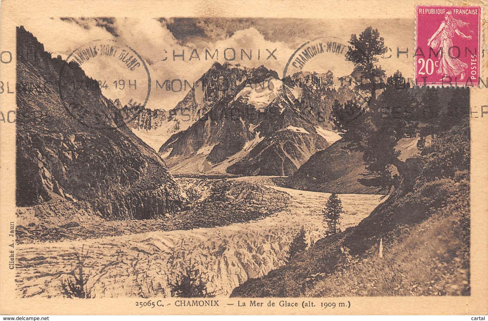 74 - CHAMONIX - La Mer De Glace (alt. 1909 M) - Chamonix-Mont-Blanc