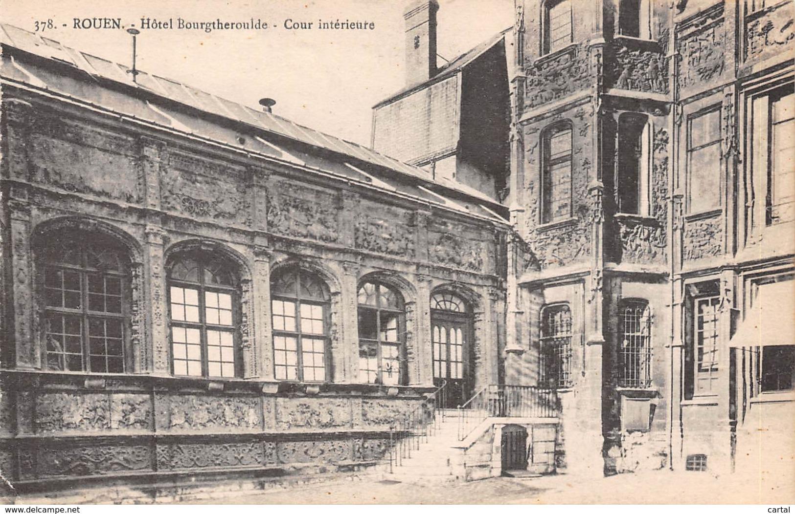 76 - ROUEN - Hôtel Bourgtheroulde - Cour Intérieure - Rouen