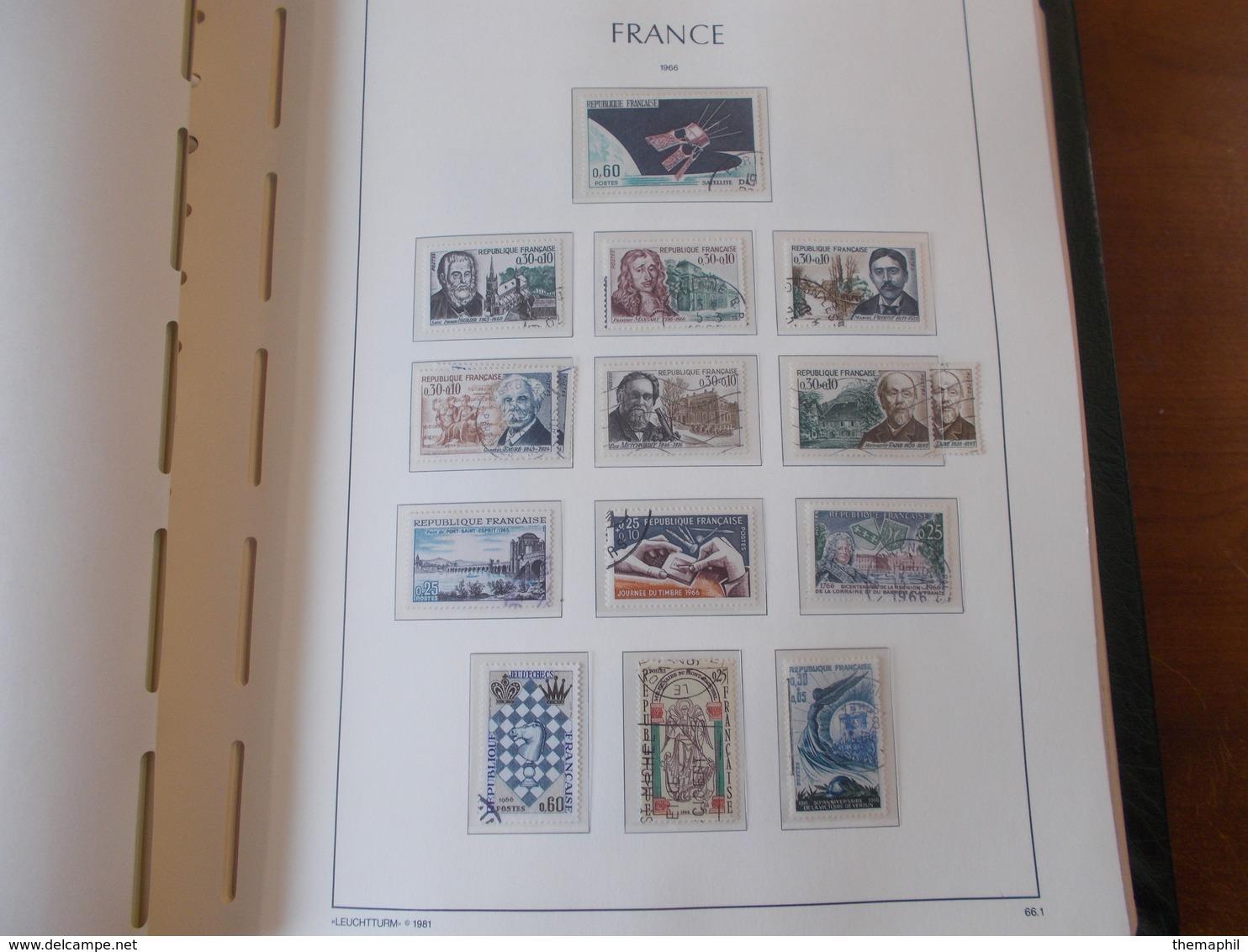 Lot N° 330 FRANCE Une Collection Dans Un Album Leuchtturm 1966 / 1984  Tous Obl.  .  No Paypal - Timbres