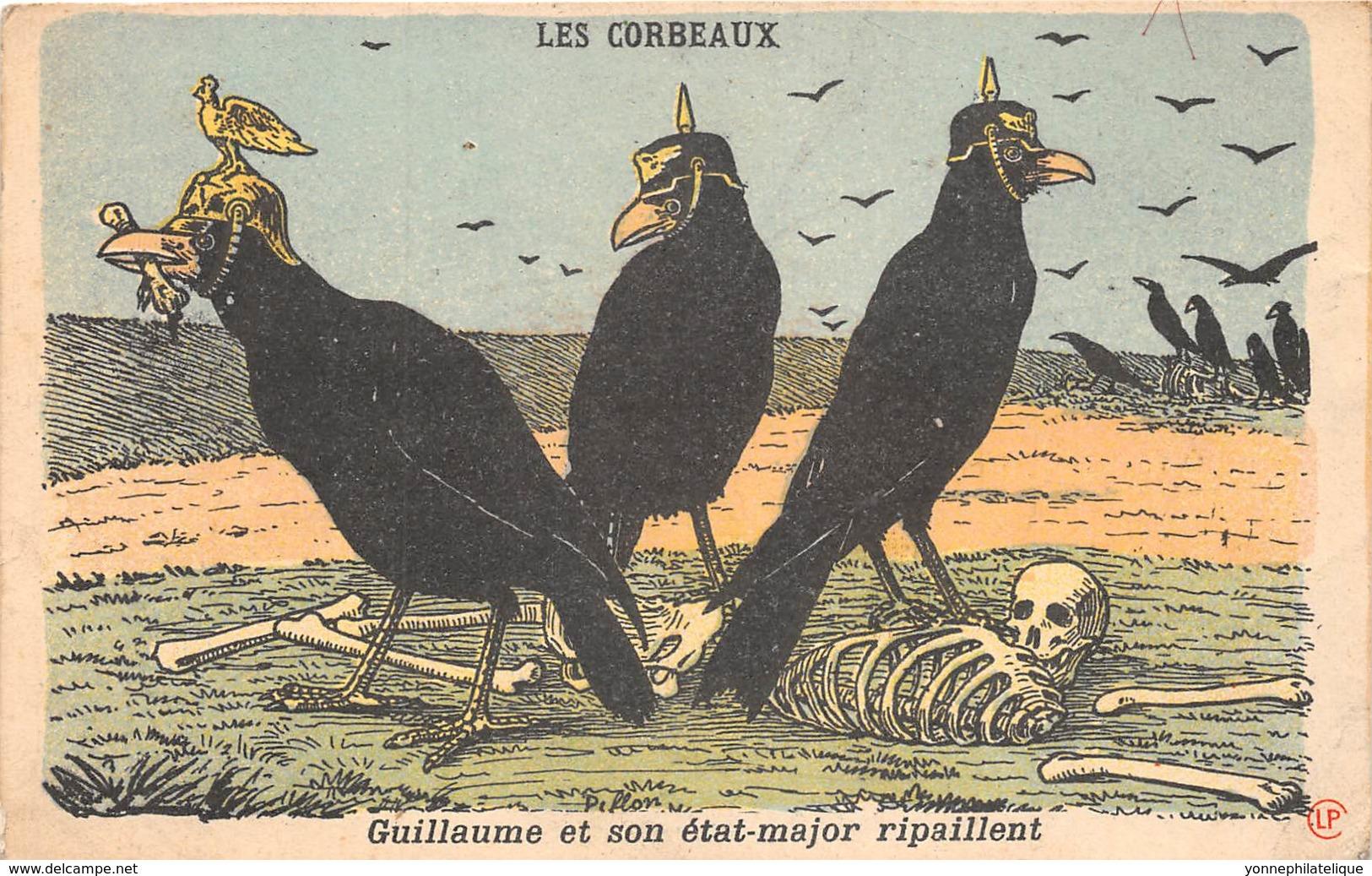 Thèmes - 10402 - Belle Carte Fantaisie - Corbeaux - Guillaume Et Son état Major - Altri
