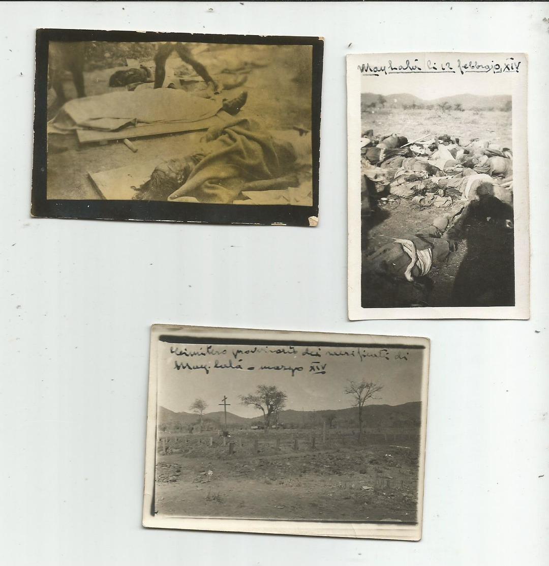 ETIOPIA - 7 FOTO ECCIDIO DI MAI LALA - LA FORCA PER I BRIGANTI ABISSINI-1936 - Altri