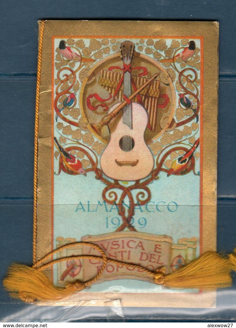 Calendario 1929 Musica E Canti Del Popolo - Calendari