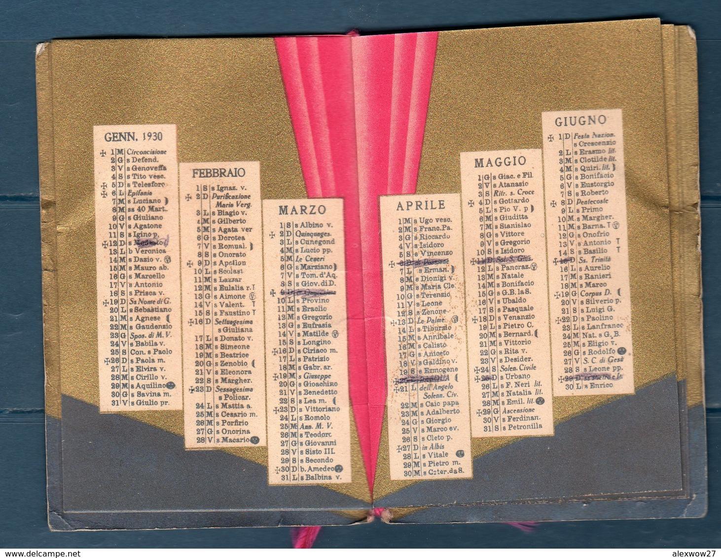 Calendario 1930 7 Bellezze - Calendari