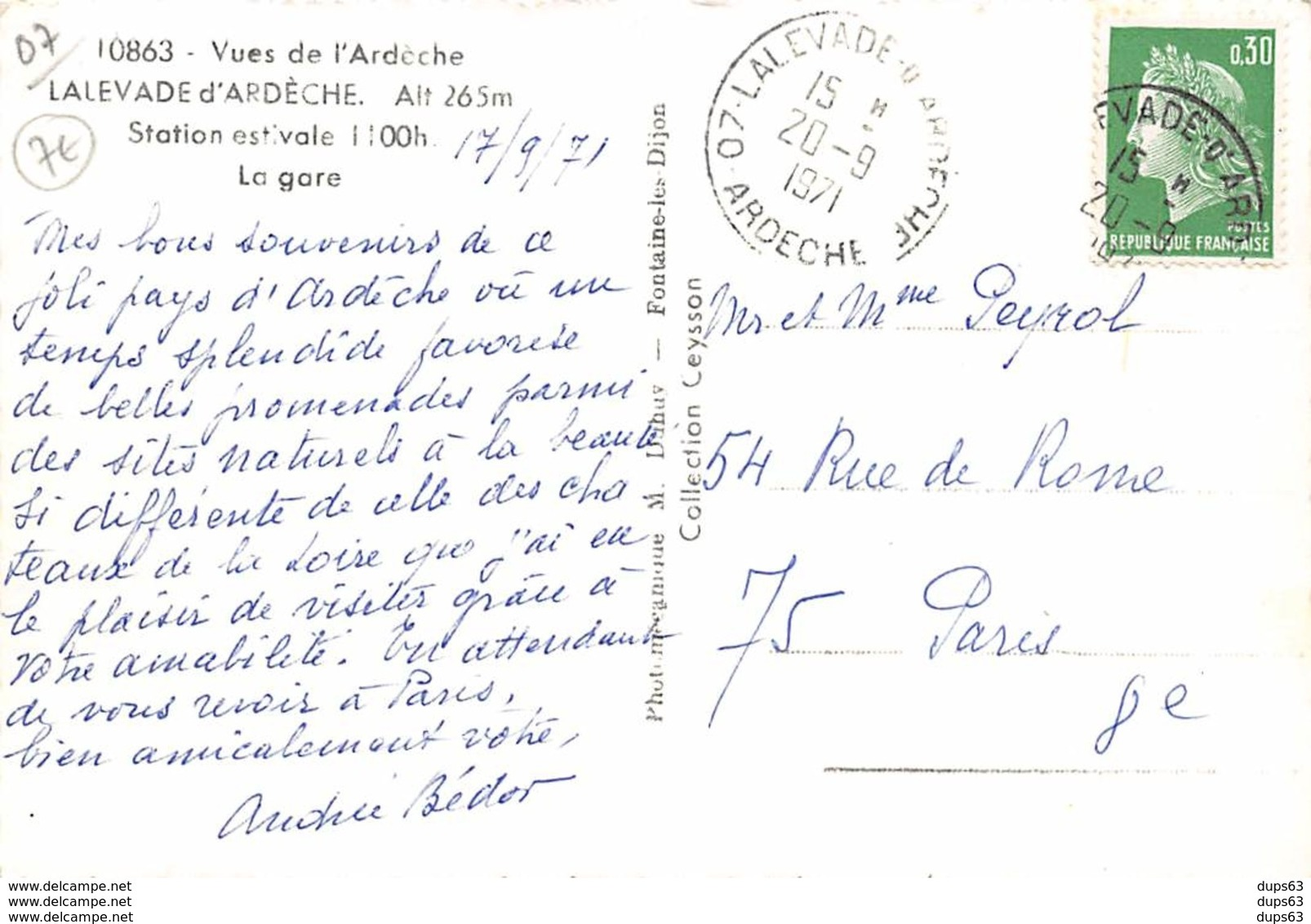 LALEVADE D'ARDECHE - La Gare - Très Bon état - France