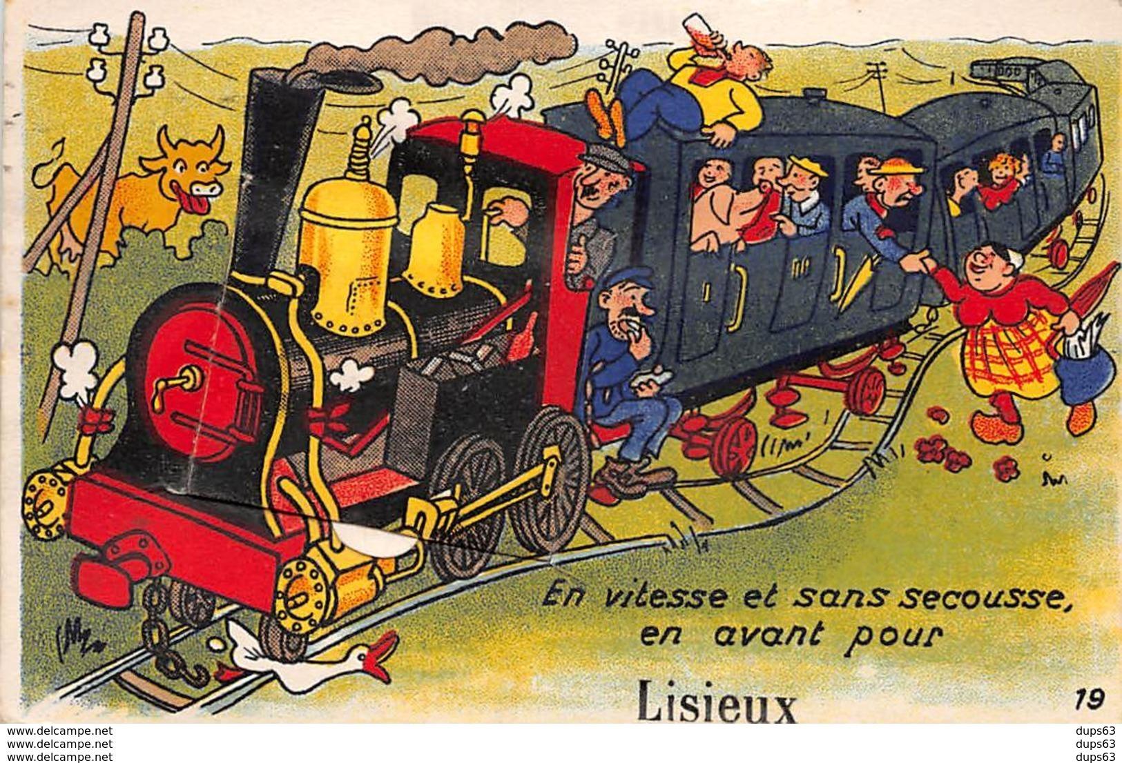 LISIEUX - En Vitesse Et Sans Secousse, En Avant Pour - Carte à Système - Très Bon état - Lisieux