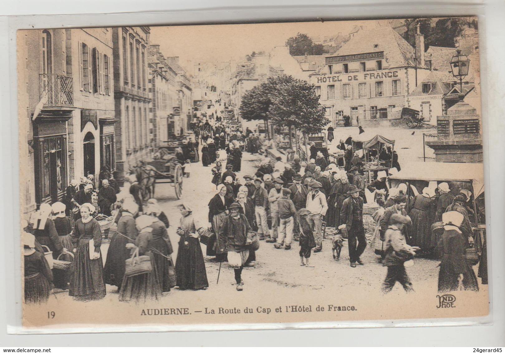 CPA AUDIERNE (Finistère) - La Route Du Cap Et L'Hôtel De France - Audierne