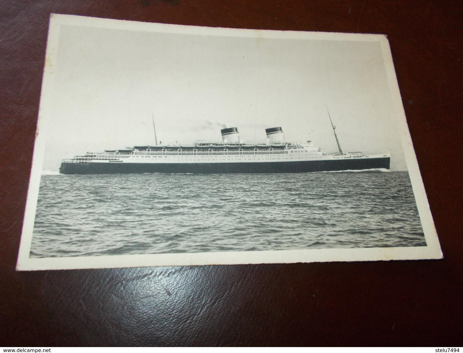 B717  Nave Conte Di Savoia Flotte Riunite Genova - Barche