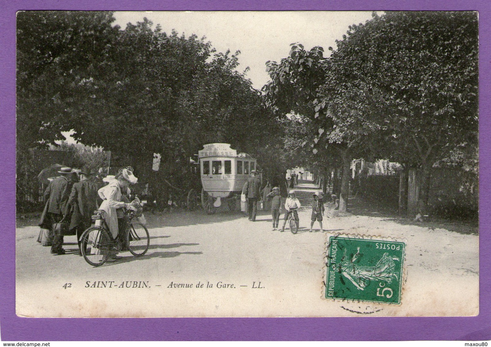 SAINT-AUBIN- Avenue De La Gare - 1910 - - Frankreich
