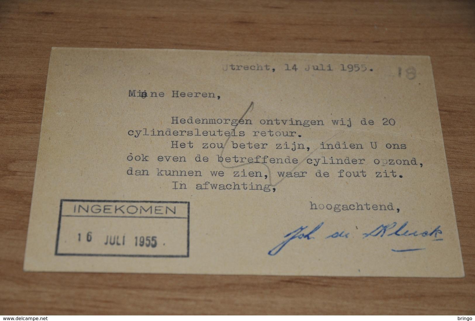 18    BEDRIJFSKAART   FA. D. BLOM ( J. DE KLERCK)  UTRECHT - 1955 - Andere