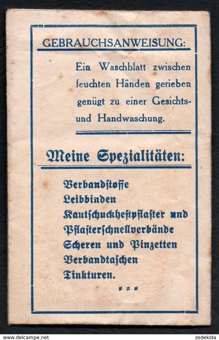 C3779 - Chemnitz - Amandus Schluckwerk - Orig. Seife Seifenblätter Mit Gebrauchsanweisung - Werbung Reklame - Kosmetika