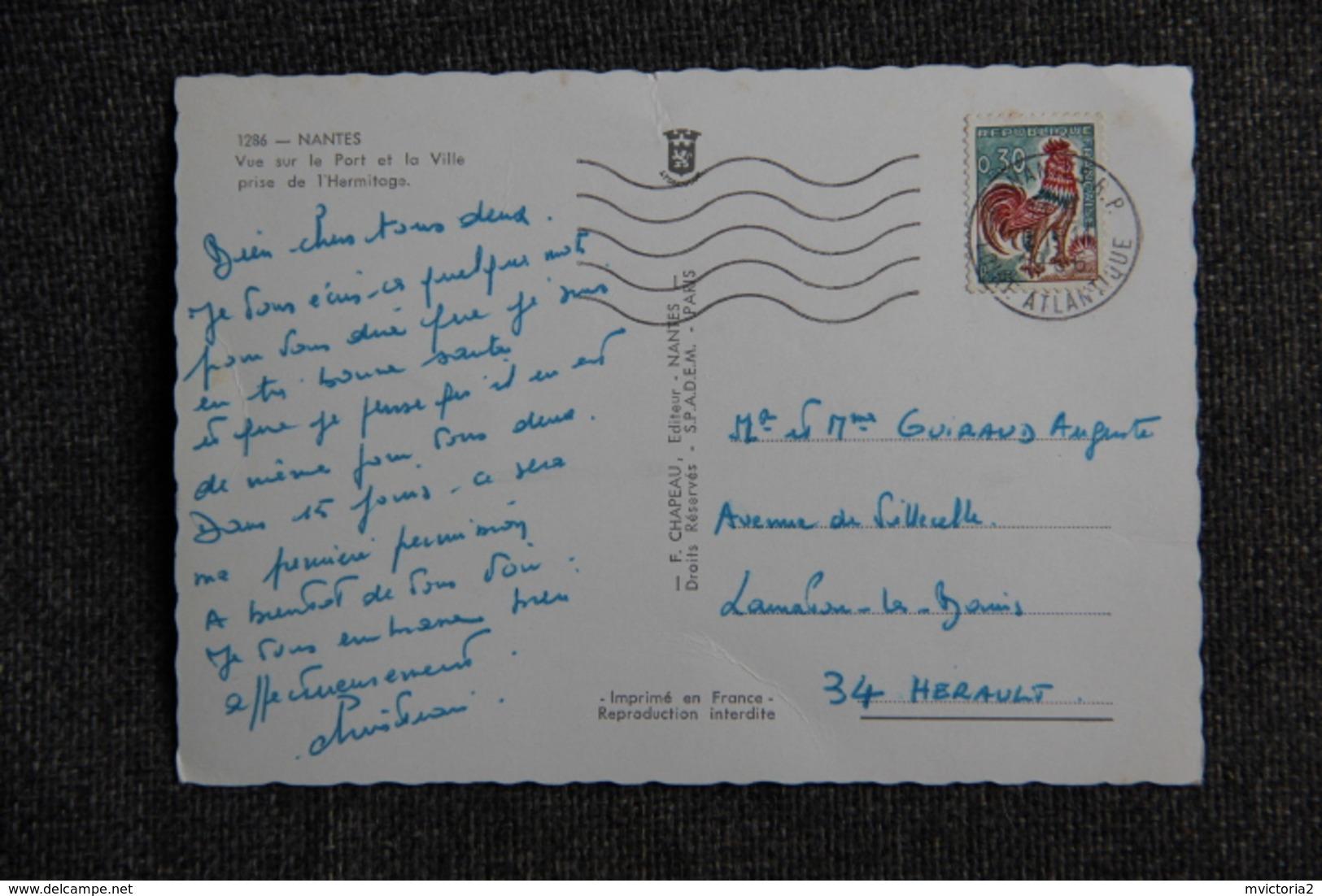 NANTES - Vue Sur Le Port ( Bateau à Quai : REGO) - Nantes
