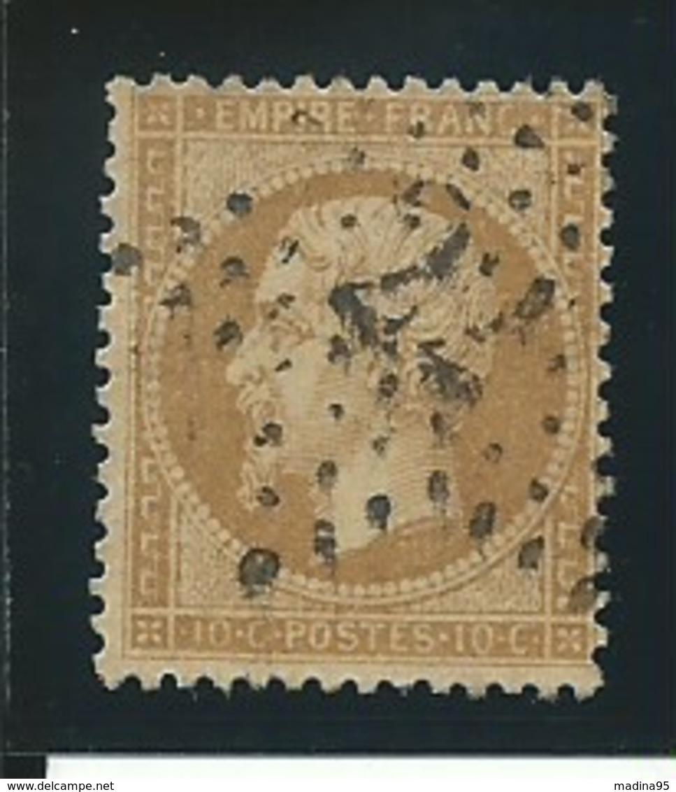 FRANCE: Obl., N° YT 21, Bistre, TB - 1862 Napoleon III