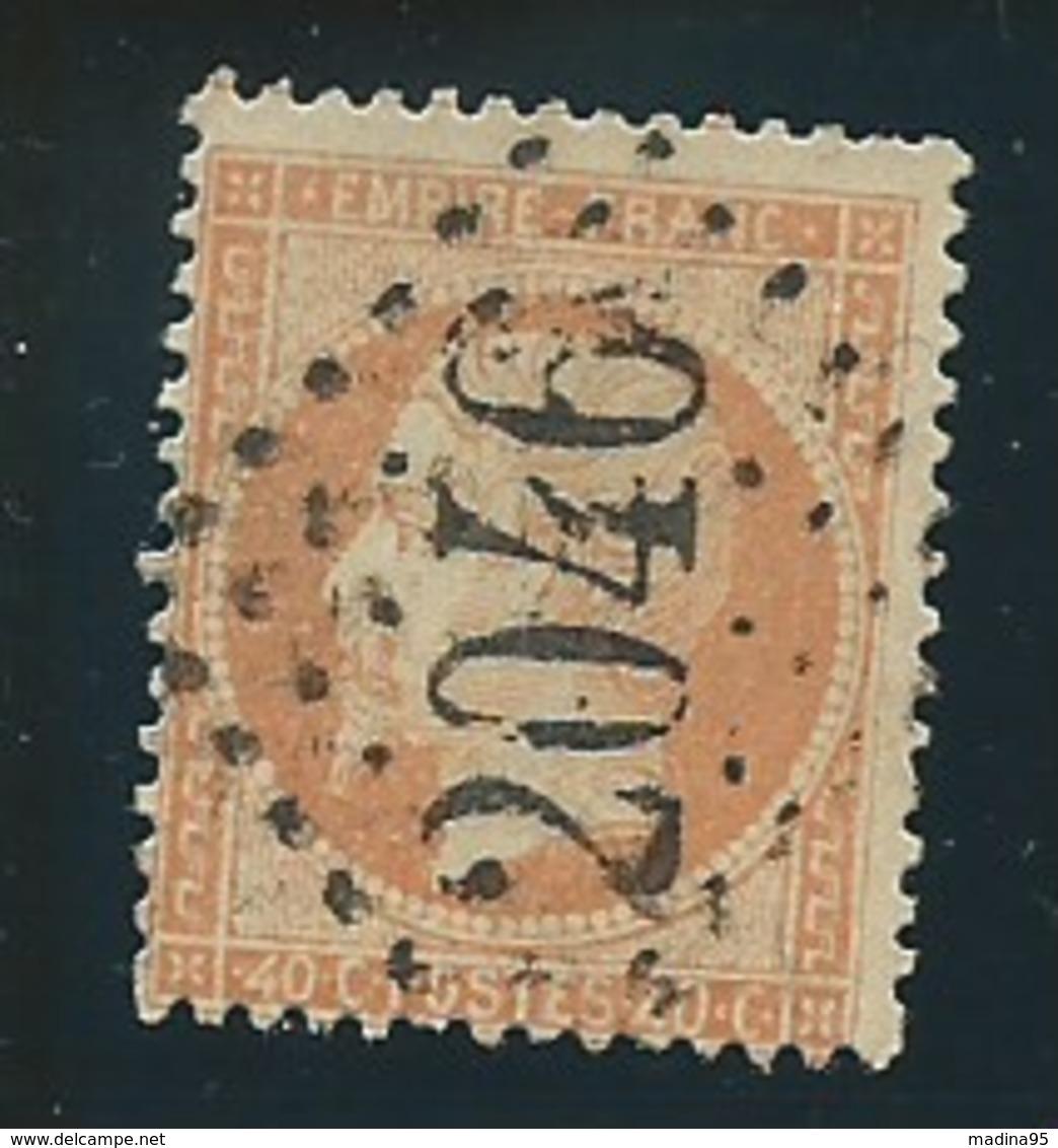 FRANCE: Obl., N° YT 23, Orange Clair, TB - 1862 Napoleon III