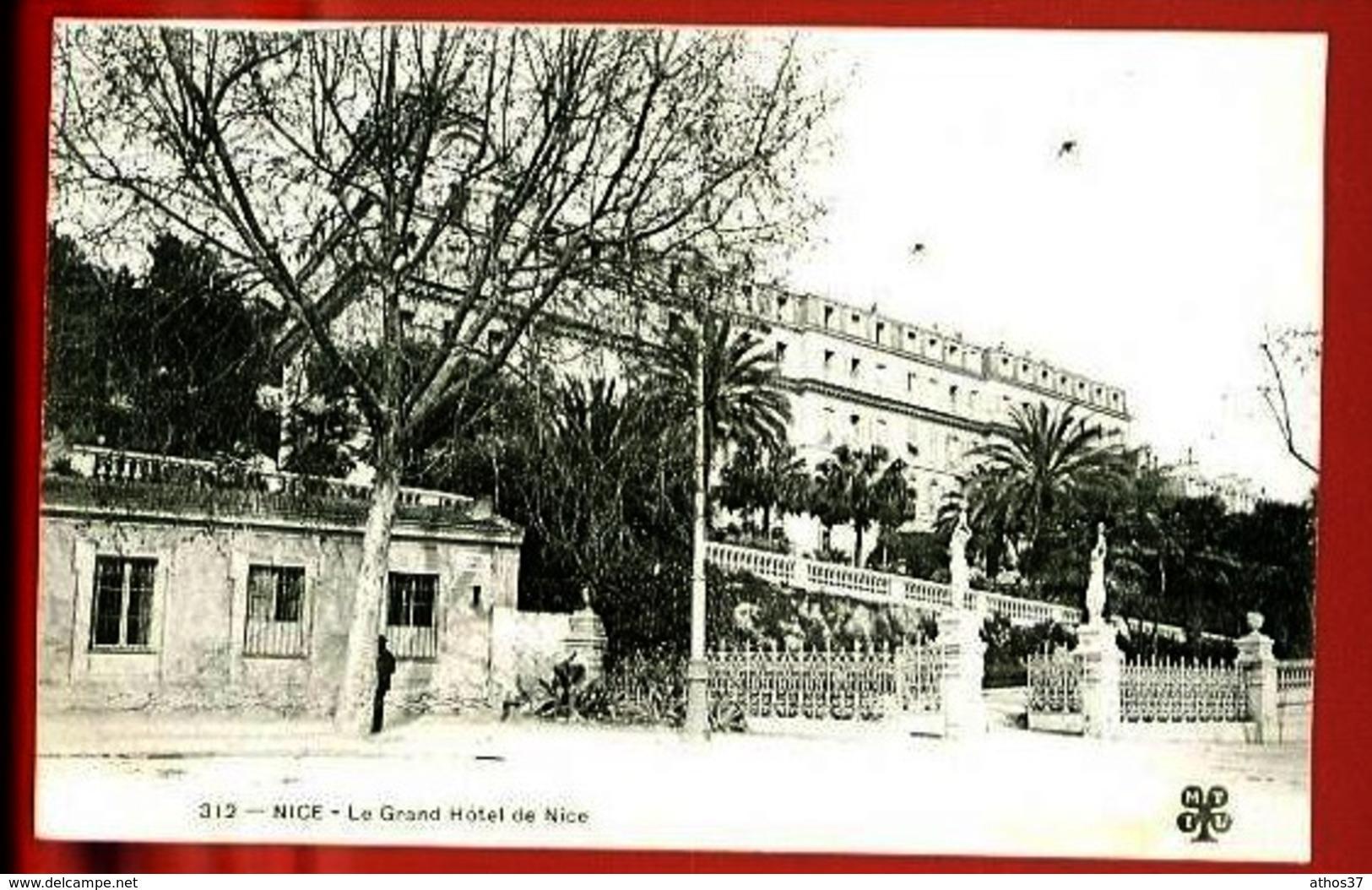 NICE - 312 : Le Grand Hôtel De Nice - (Beau Plan Animé) - CP Précurseur, Vers 1900. - Pubs, Hotels And Restaurants
