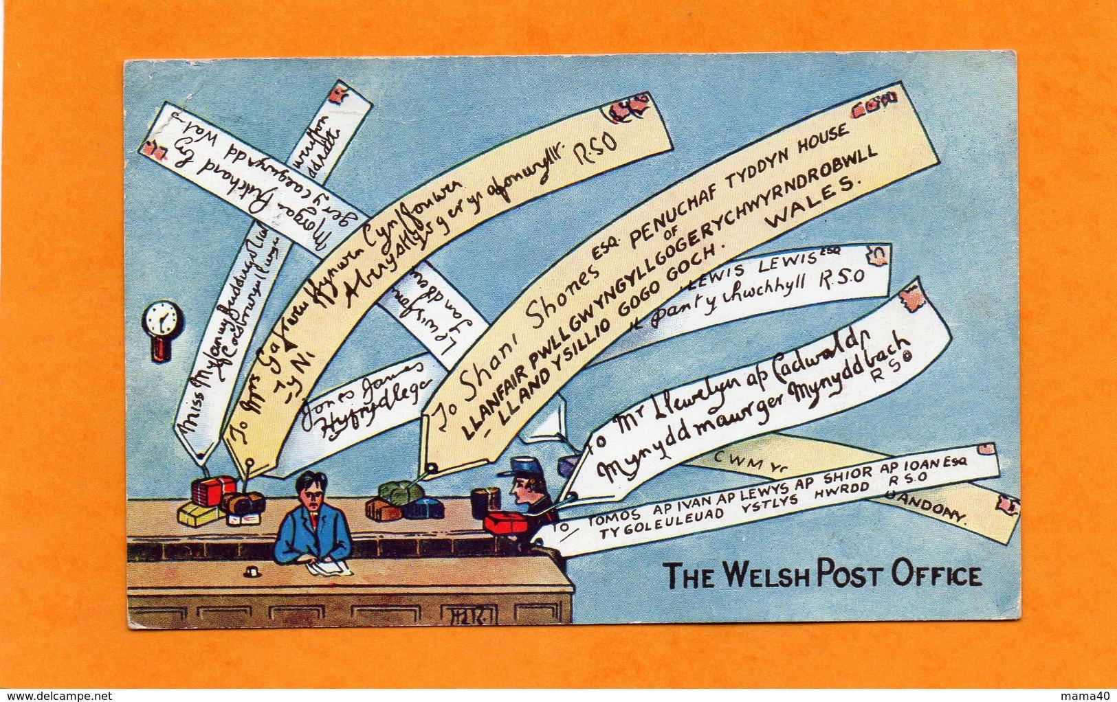 CPA HUMORISTIQUE  DE 1947 - THE WELSH POST OFFICE - WALES - PAYS DE GALLES - Pays De Galles