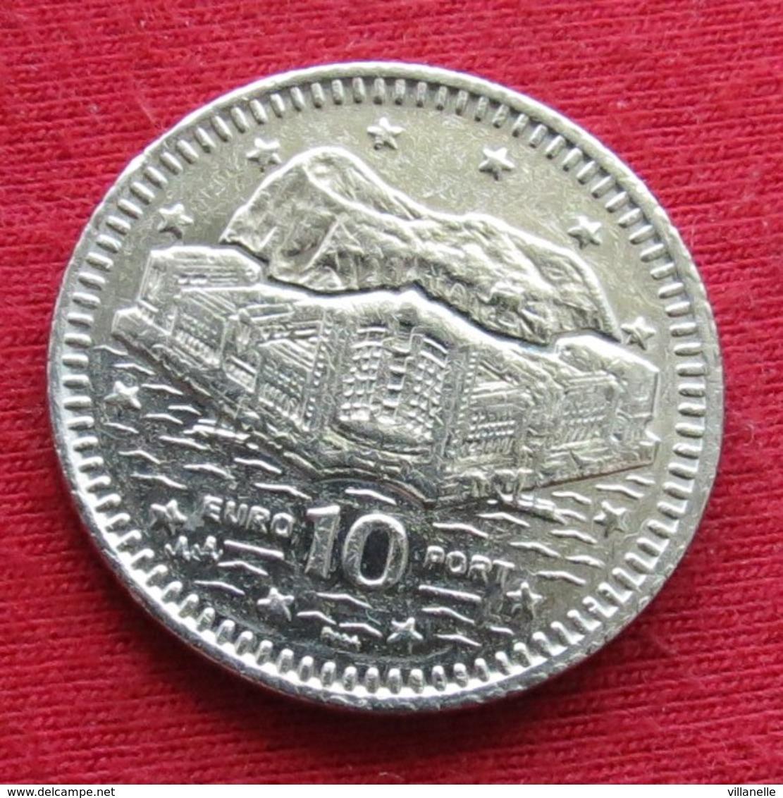 Gibraltar 10 Pence 2000 AA KM# 776 Gibilterra - Gibraltar