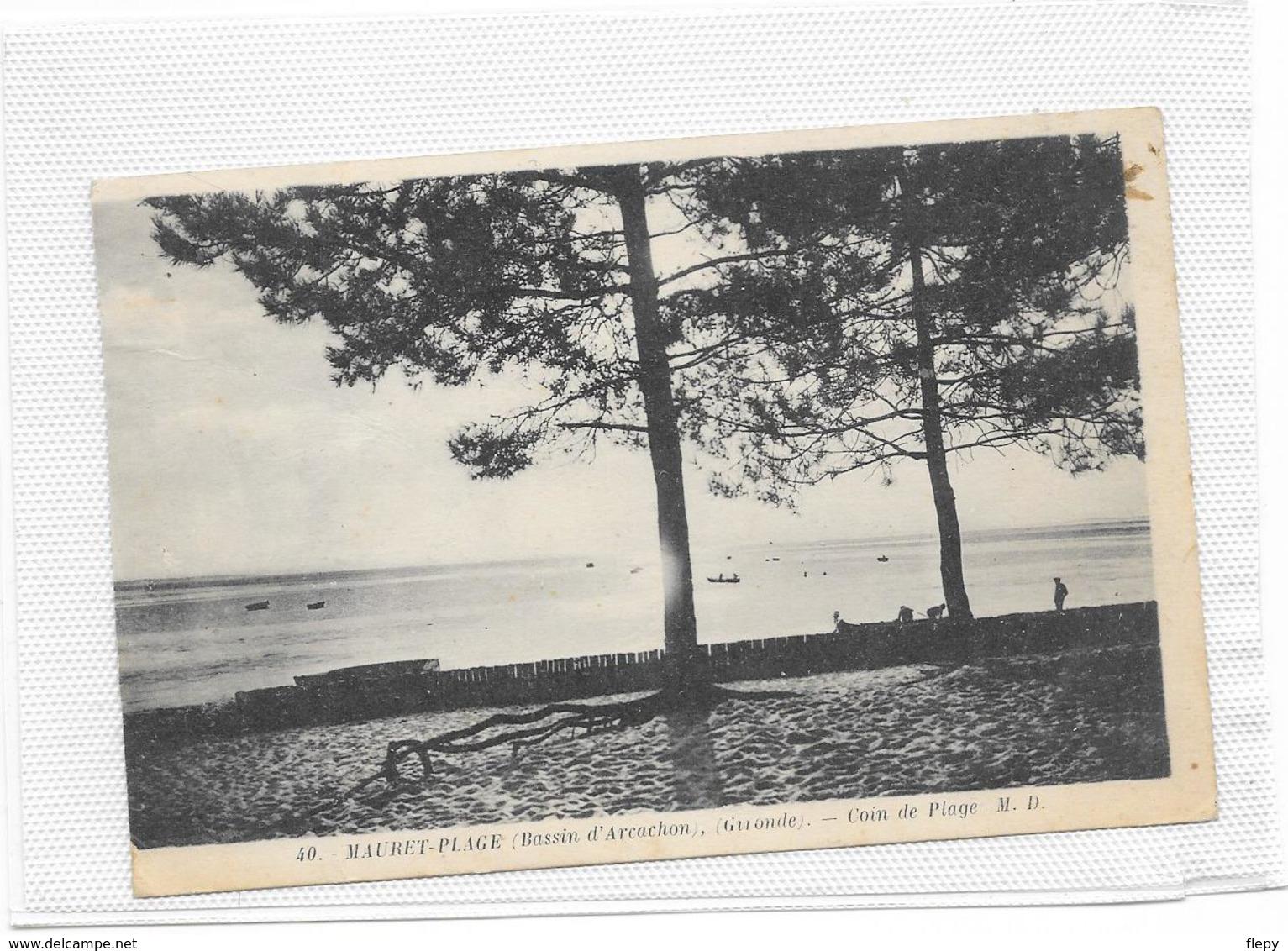 CPA Andernos Rare Série MAURET PLAGE MD Lire Description - Andernos-les-Bains