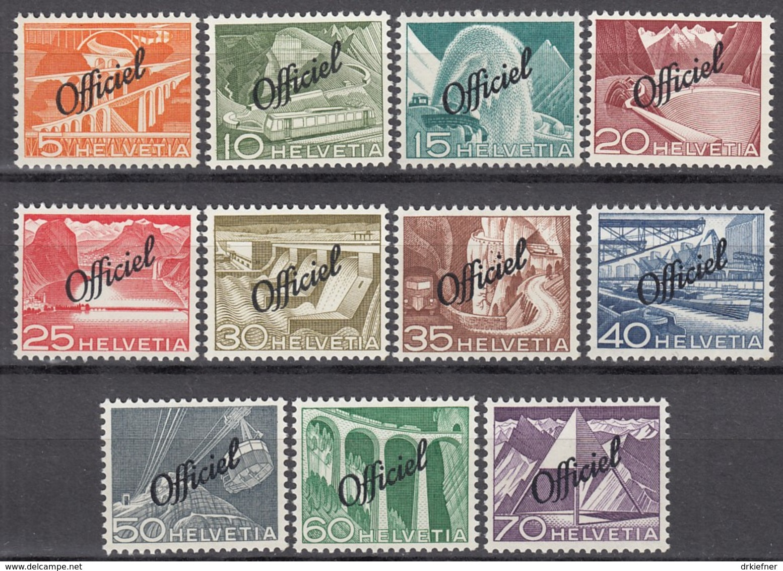SCHWEIZ Dienst 64-74, Ungebraucht *, 1950 - Dienstpost