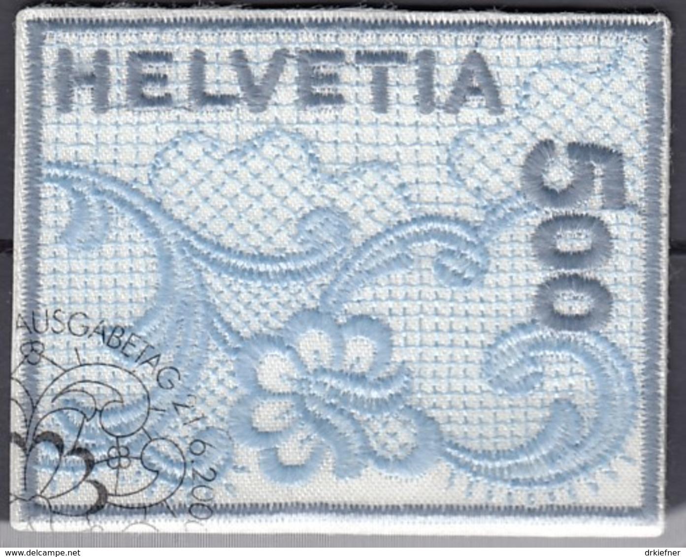 SCHWEIZ 17262, Gestempelt, St. Galler Stickerei 2000 - Blocks & Kleinbögen