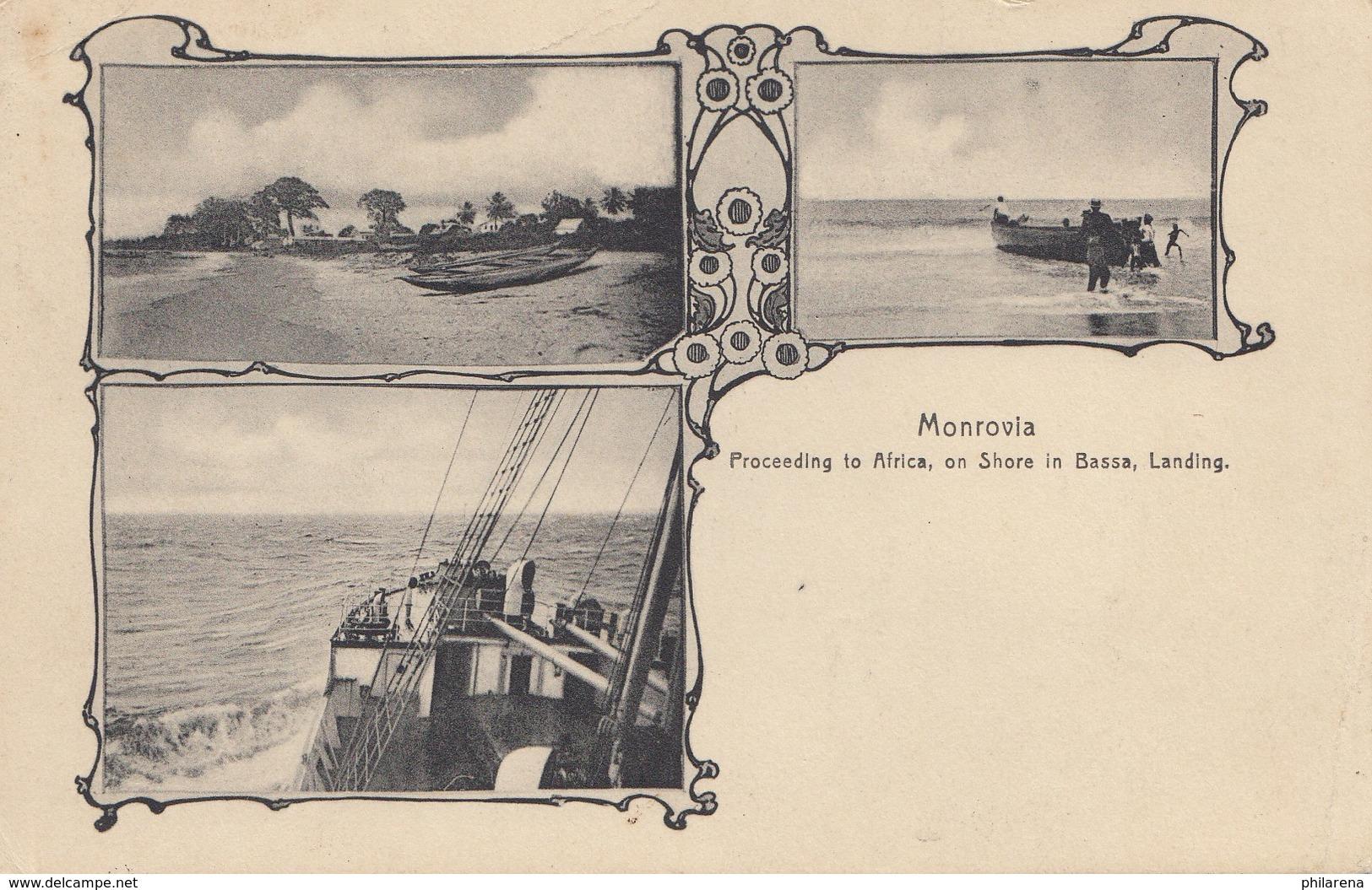 Liberia: Post Card Monrovia 1928 To Meggerdorf/Schleswig - Liberia
