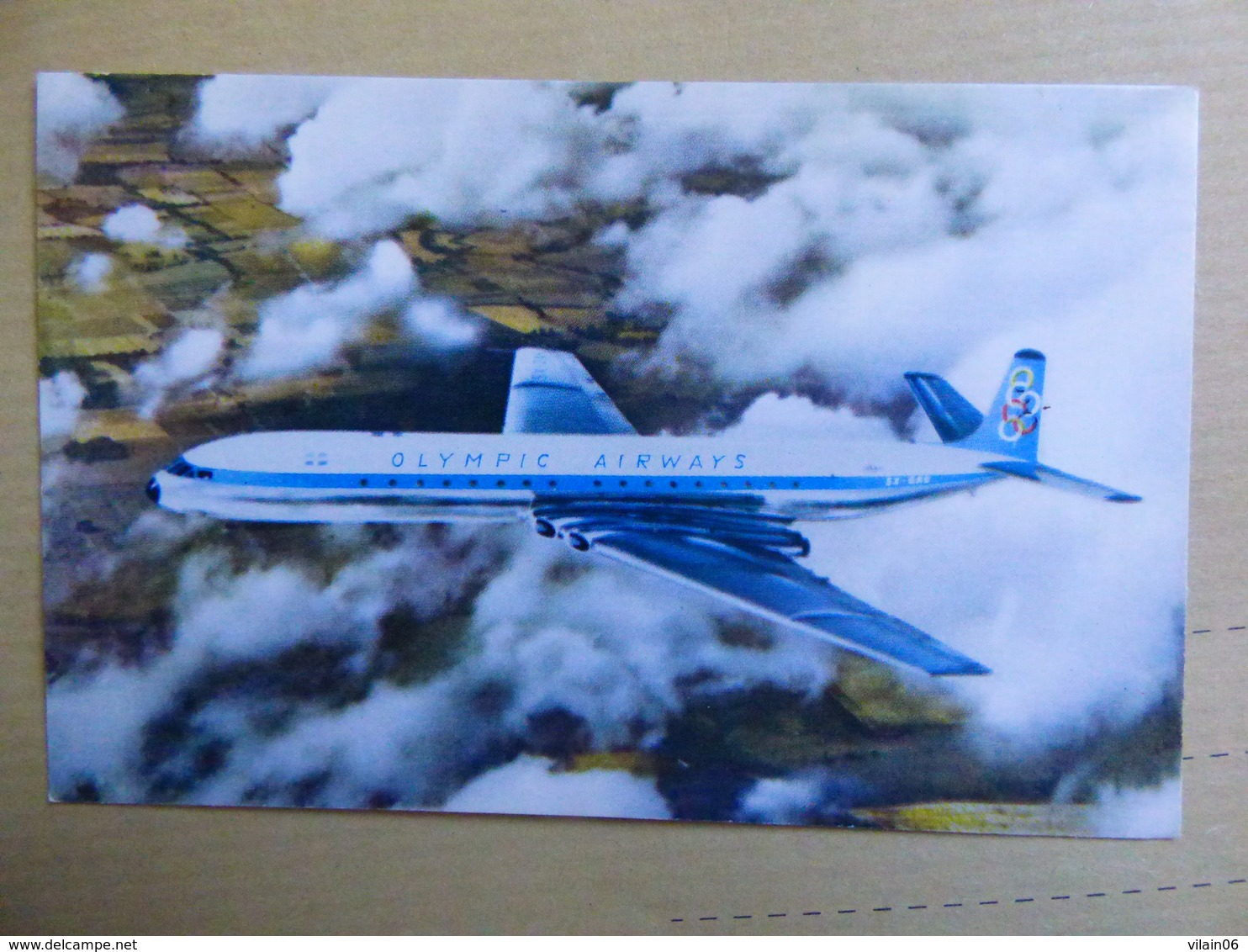 OLYMPIC AIRWAYS   COMET 4B     AIRLINE ISSUE / CARTE COMPAGNIE - 1946-....: Modern Era